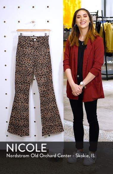 MOTO Leopard Print Flare Jeans, sales video thumbnail