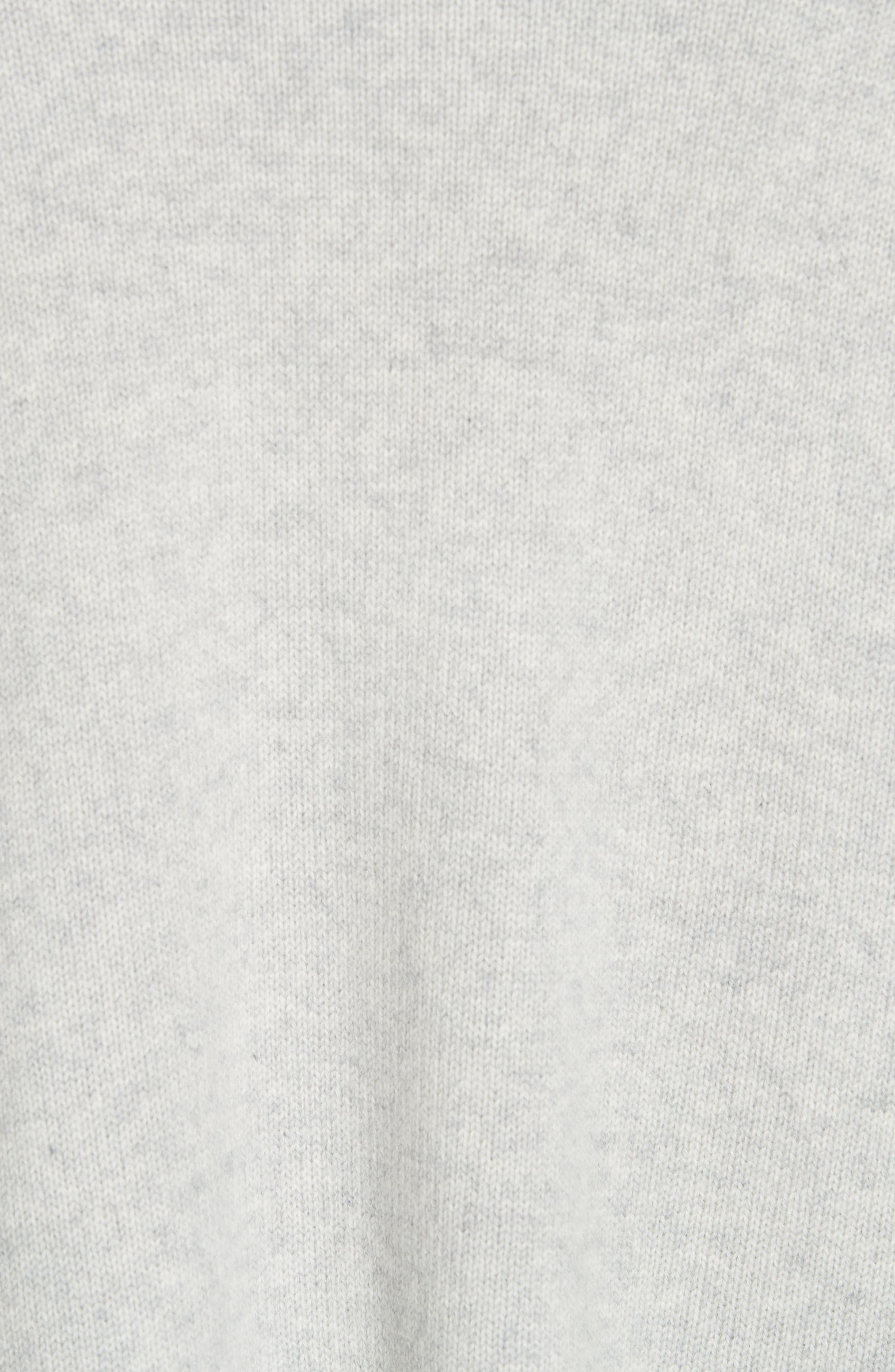 NORDSTROM SIGNATURE, Cashmere Blend Cardigan, Alternate thumbnail 5, color, GREY CLAY HEATHER