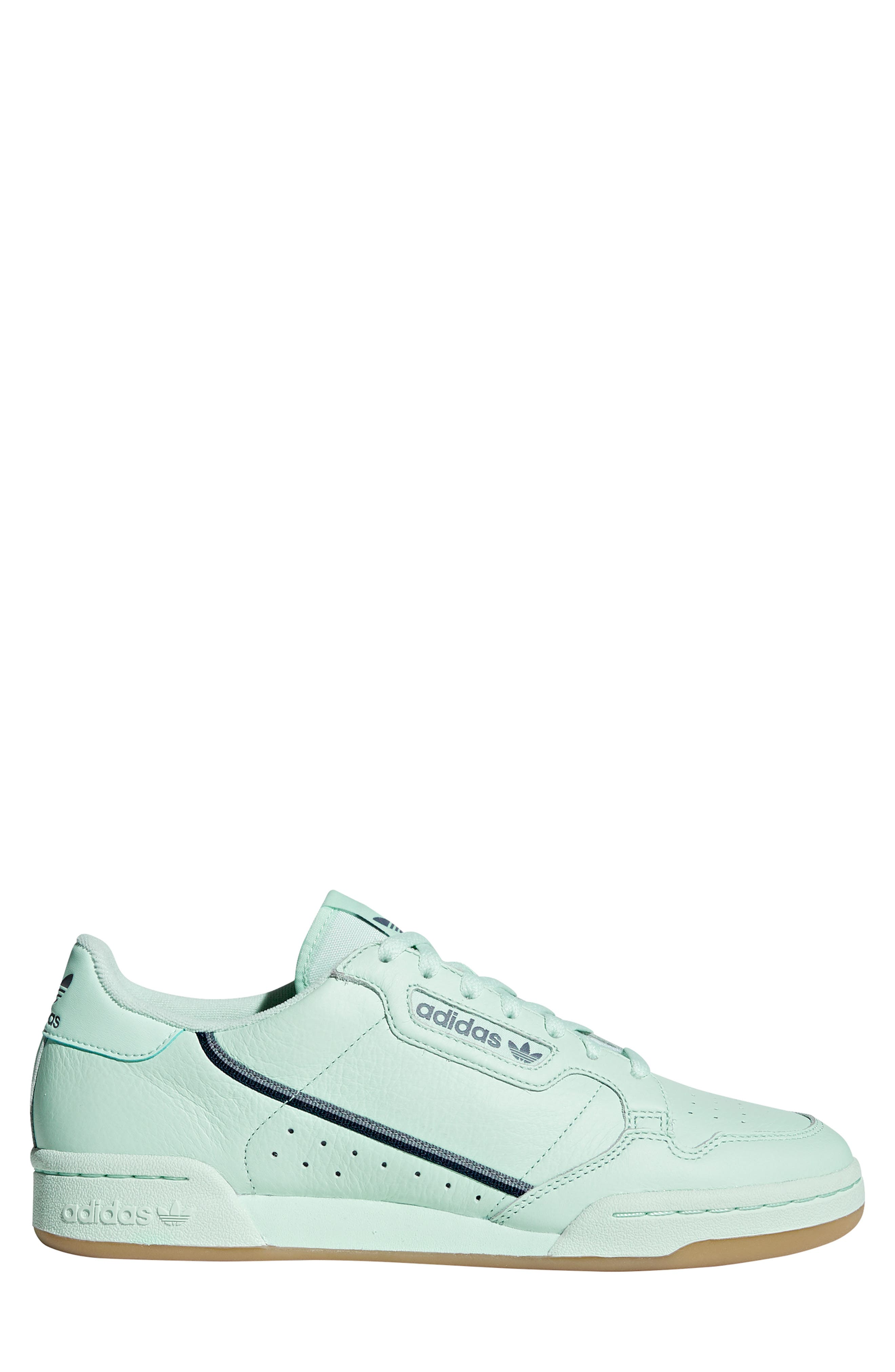 ADIDAS, Continental 80 Sneaker, Alternate thumbnail 3, color, ICE MINT/ NAVY/ GREY