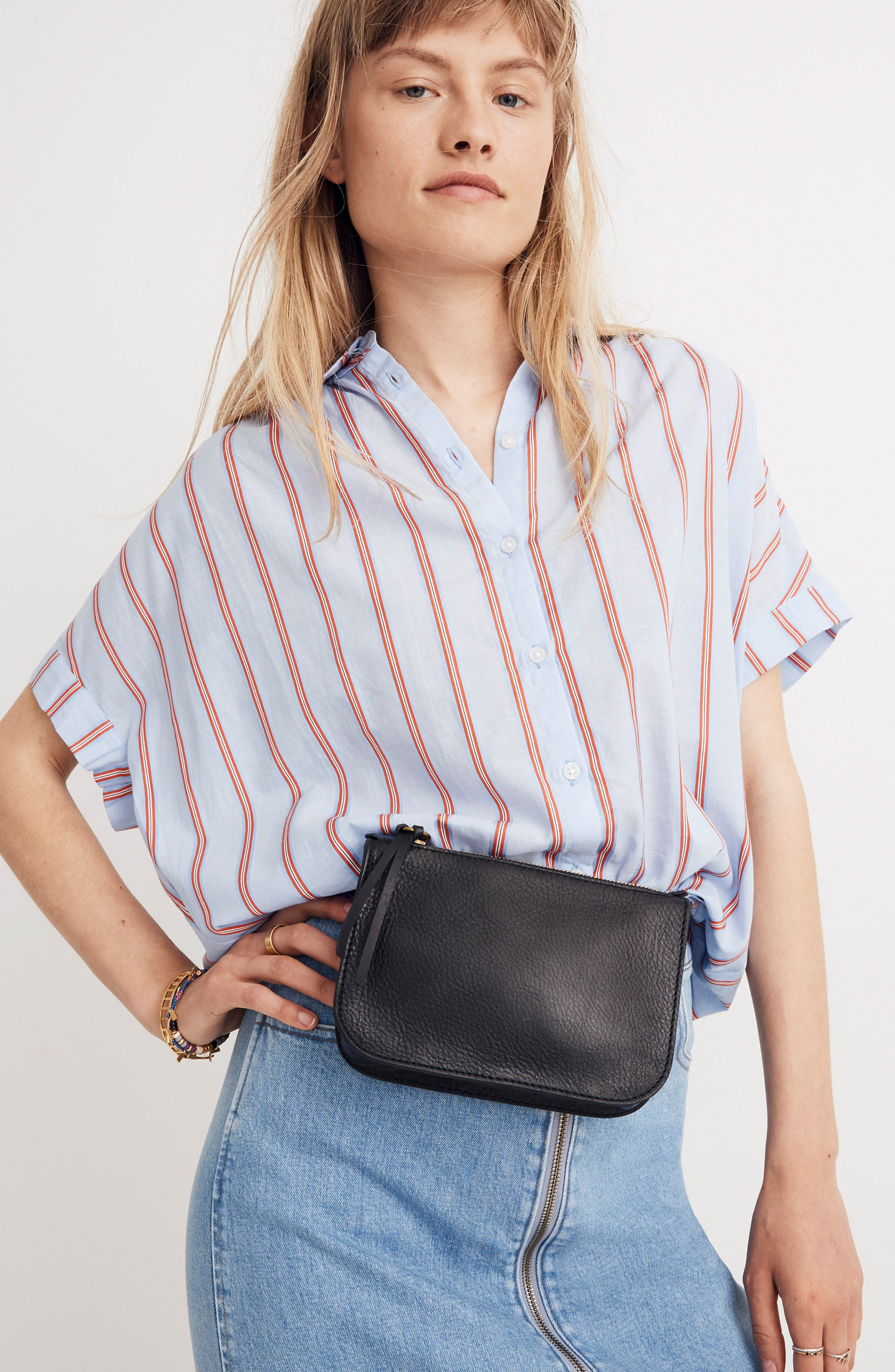 MADEWELL, The Simple Pouch Belt Bag, Alternate thumbnail 2, color, TRUE BLACK