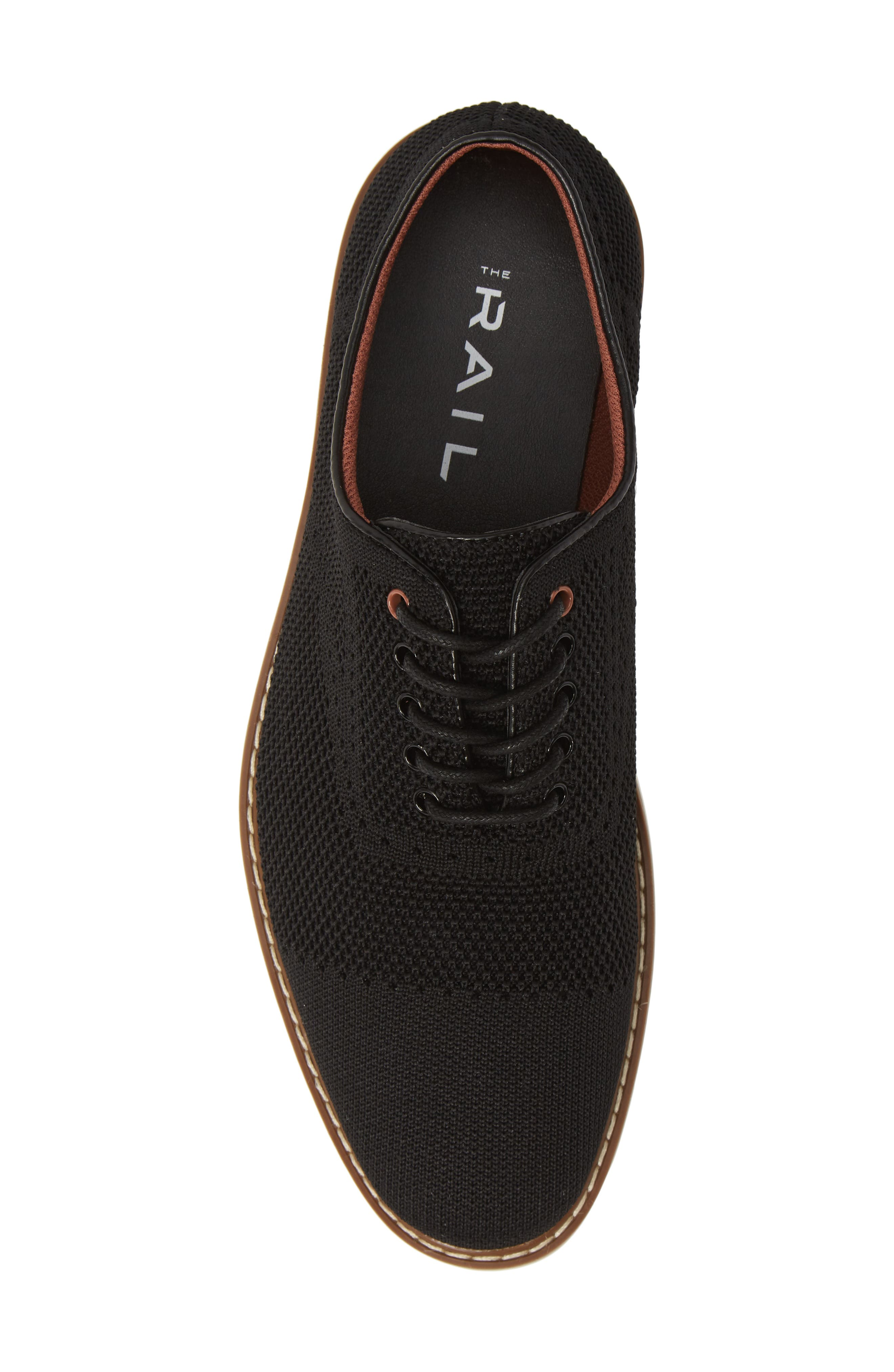 THE RAIL, Jared Plain Toe Oxford, Alternate thumbnail 5, color, BLACK