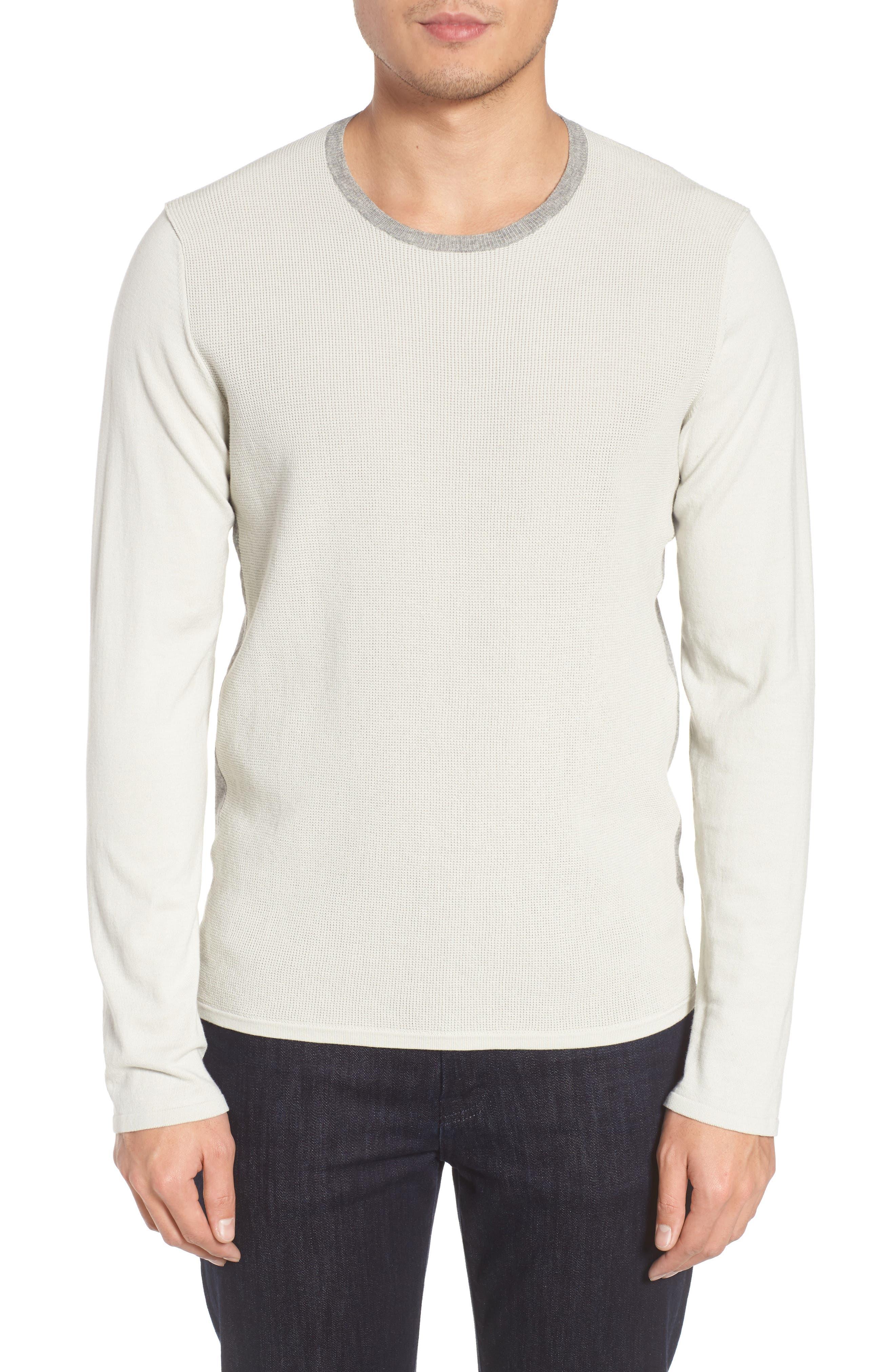 ZACHARY PRELL, Lakeside Sweater, Main thumbnail 1, color, LIGHT GREY