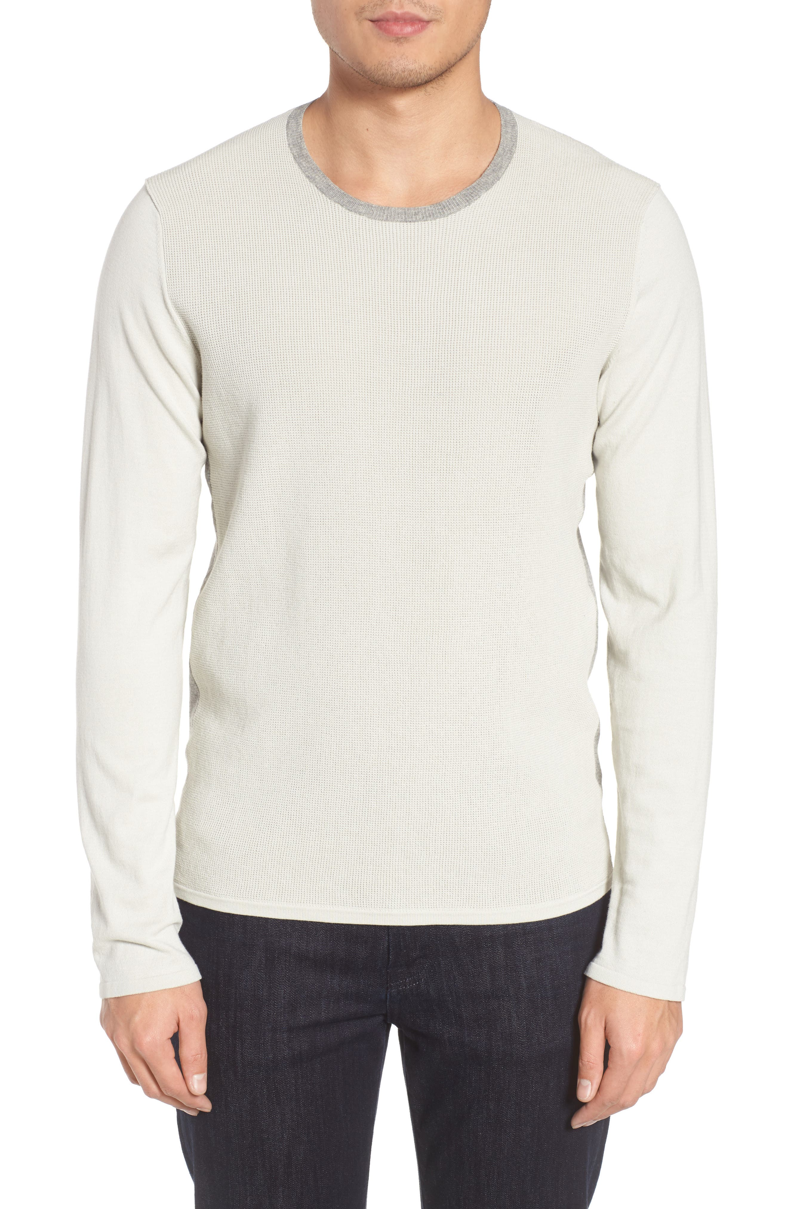 ZACHARY PRELL Lakeside Sweater, Main, color, LIGHT GREY