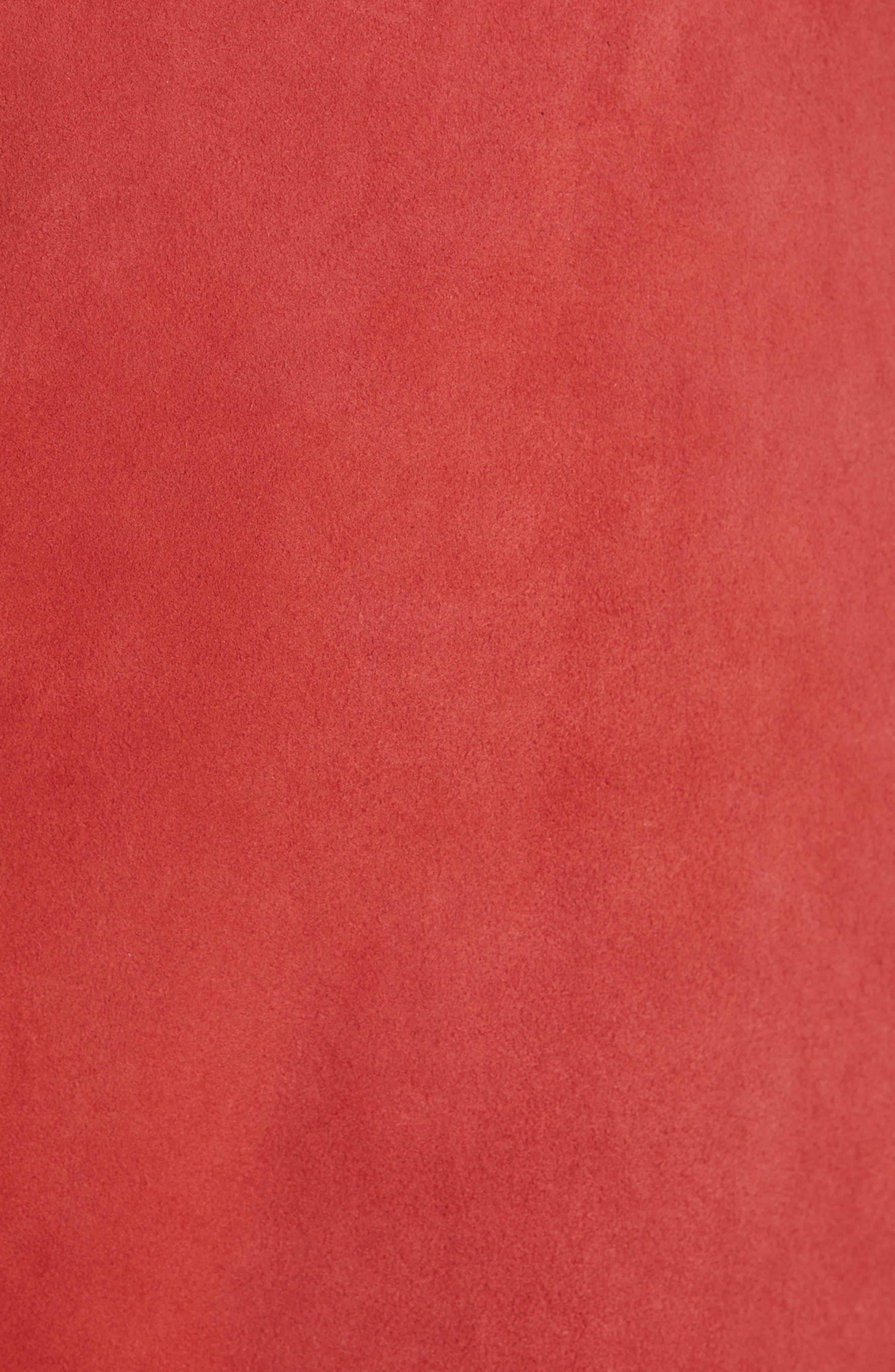 JOIE, Neida Suede Miniskirt, Alternate thumbnail 5, color, DESERT SPICE