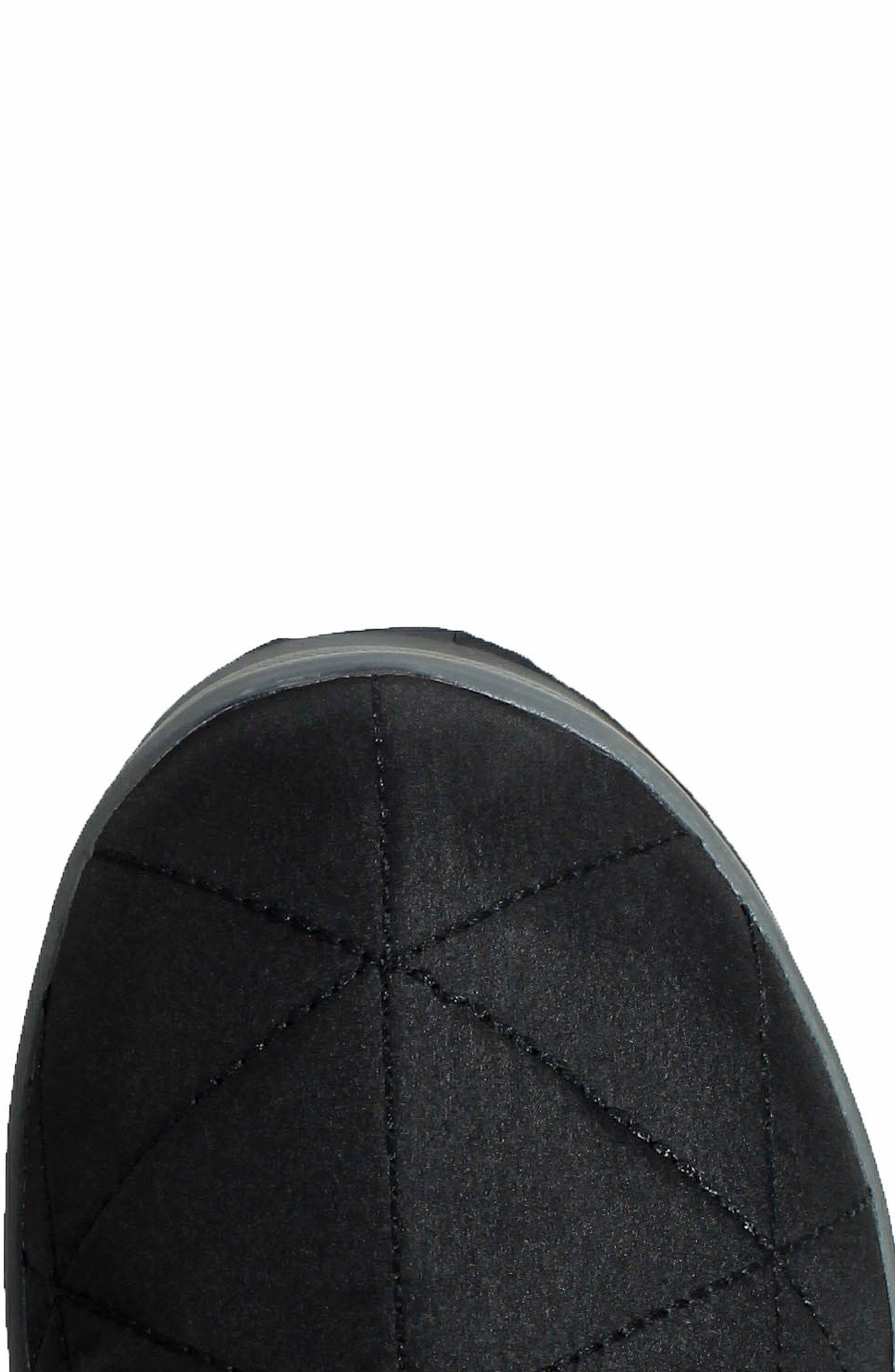 BOGS, Snowday Tall Waterproof Quilted Snow Boot, Alternate thumbnail 5, color, BLACK