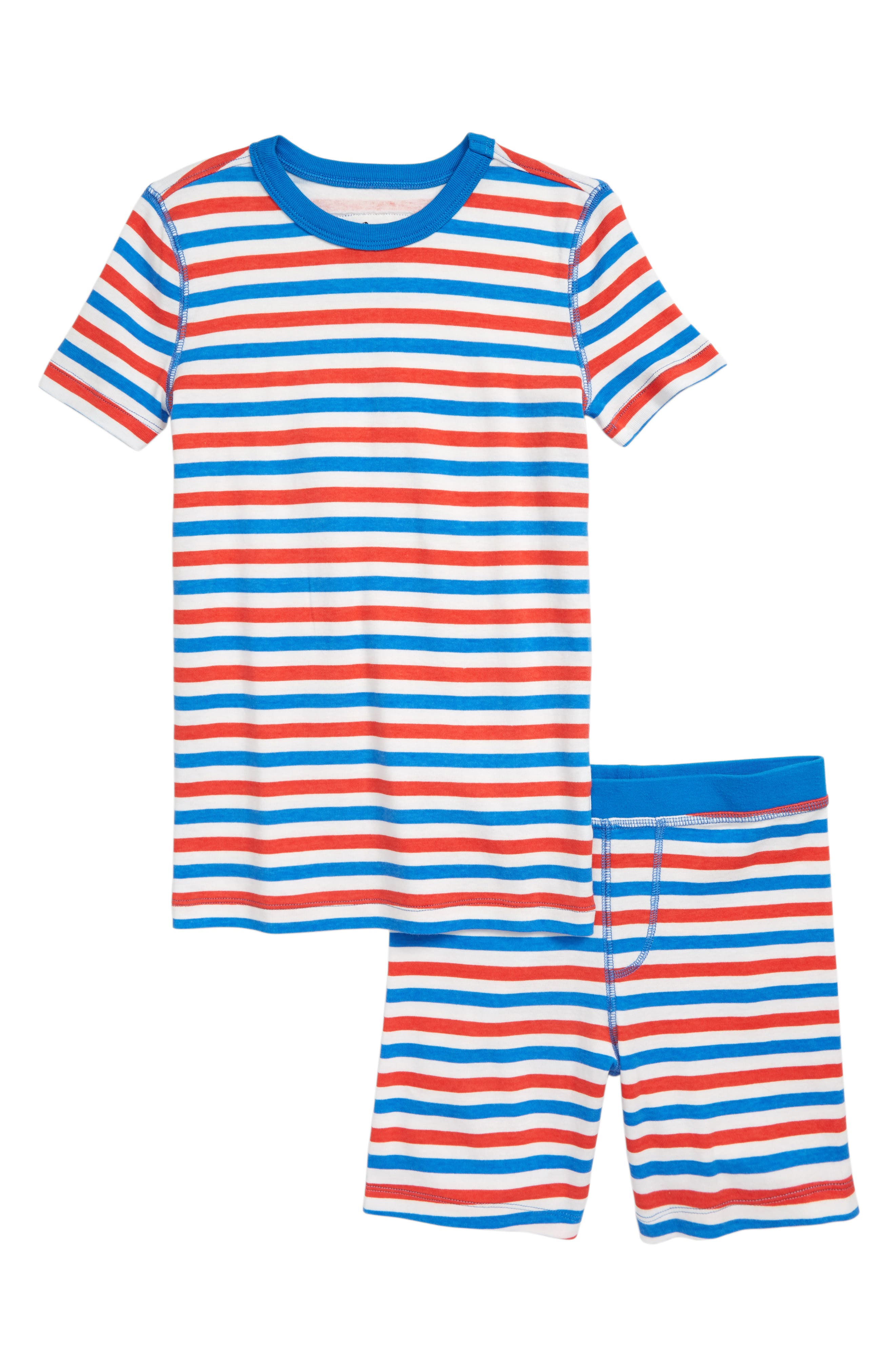 Boys Crewcuts By Jcrew Stripe Fitted TwoPiece Pajamas Size 6  Bluegreen
