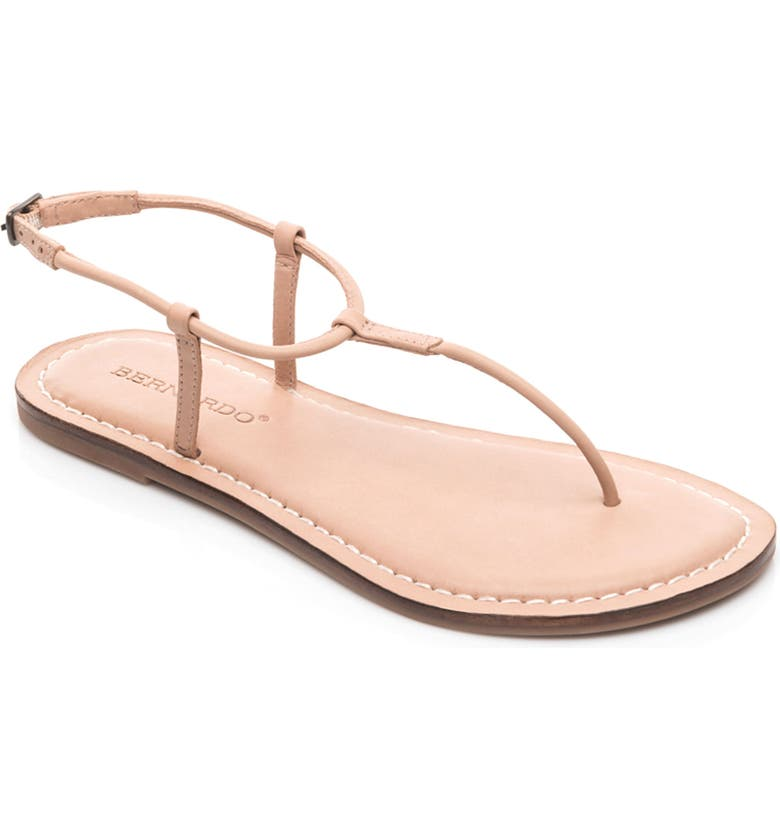 ba1a54160 Bernardo Lilly T-Strap Thong Sandals In Blush Leather