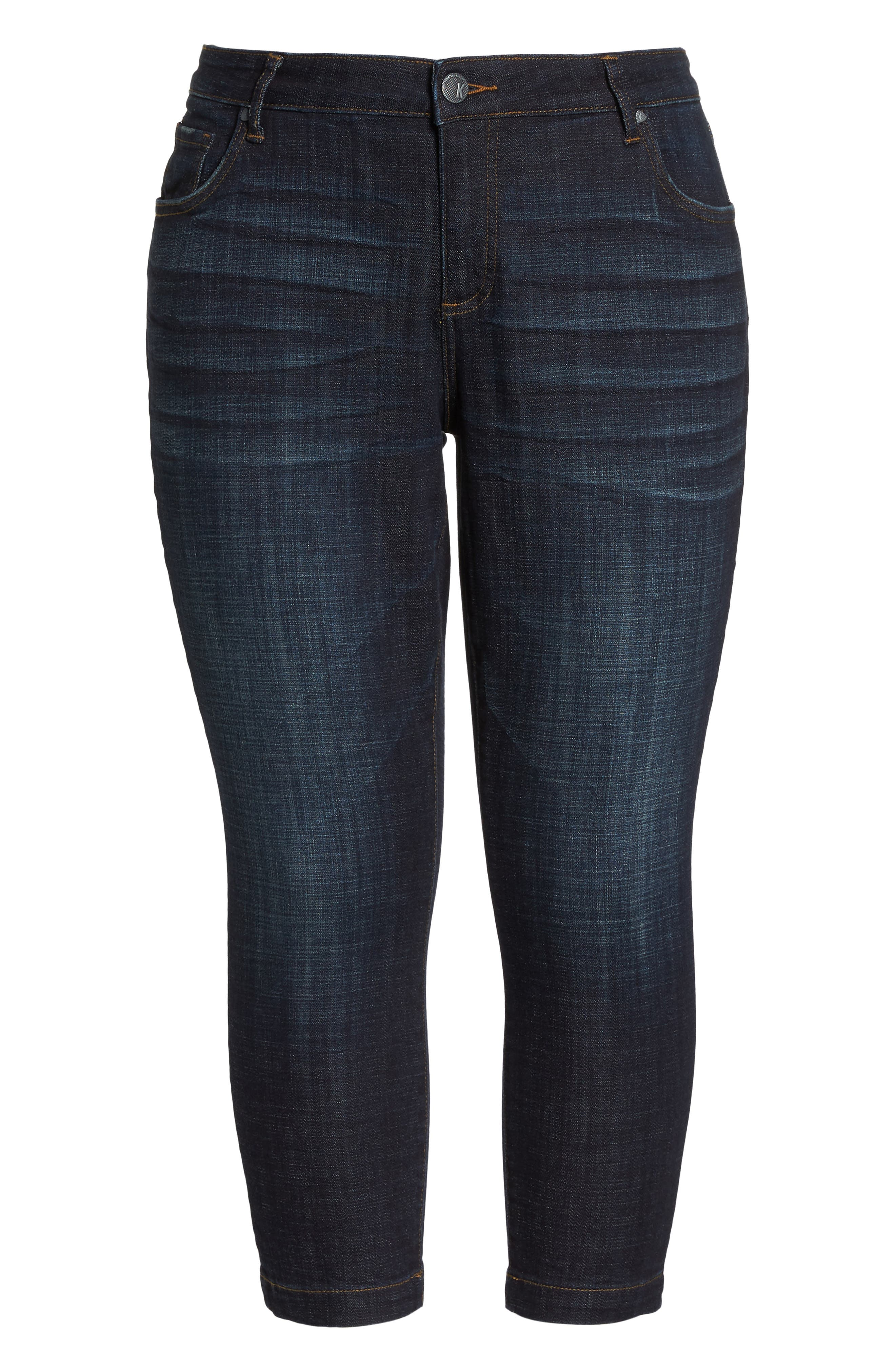 KUT FROM THE KLOTH, Lauren Crop Jeans, Alternate thumbnail 7, color, ACKNOWLEDGING