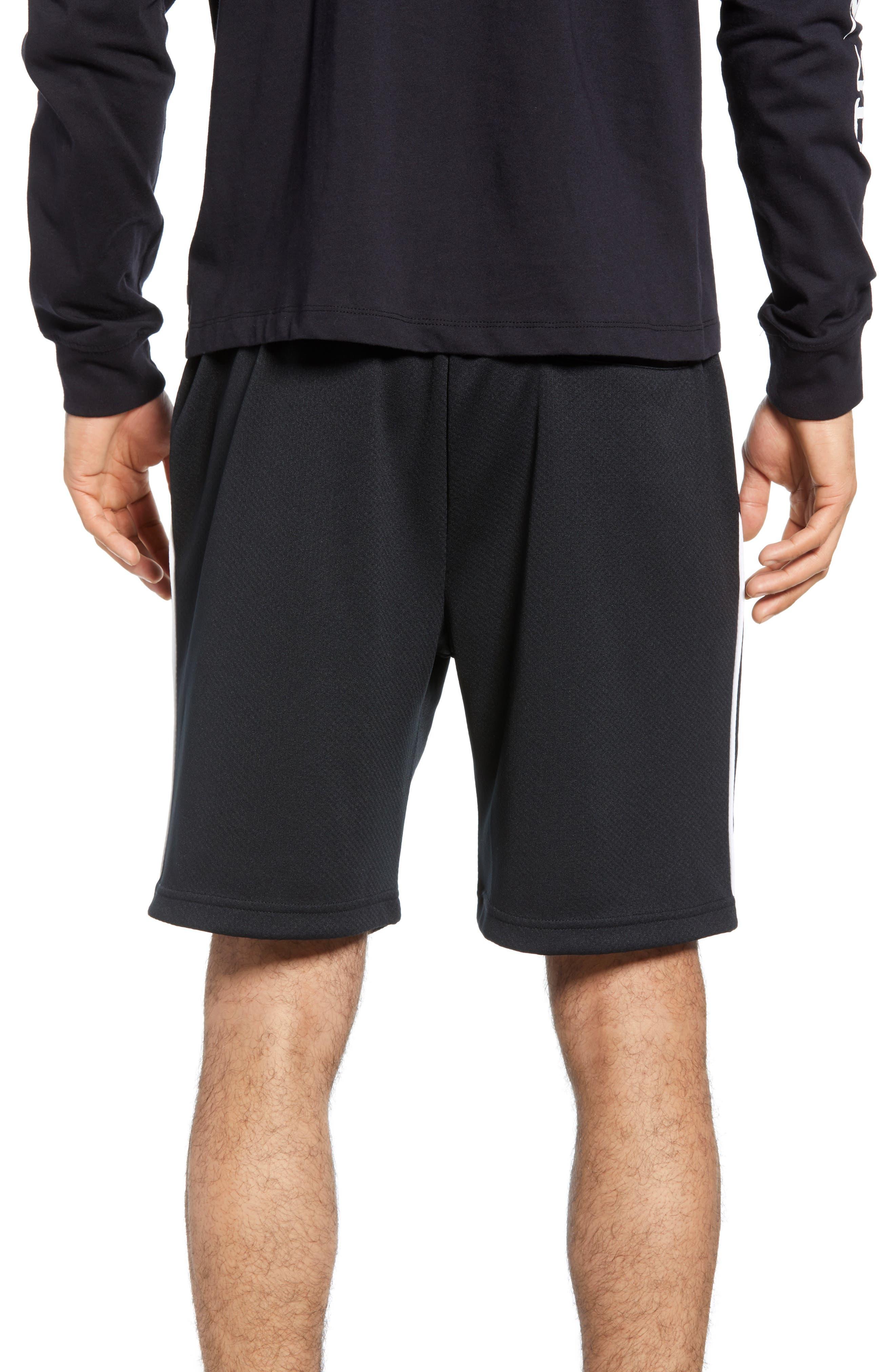 NIKE SB, Dry Sunday Morning Shorts, Alternate thumbnail 2, color, BLACK/ WHITE/ BARELY VOLT