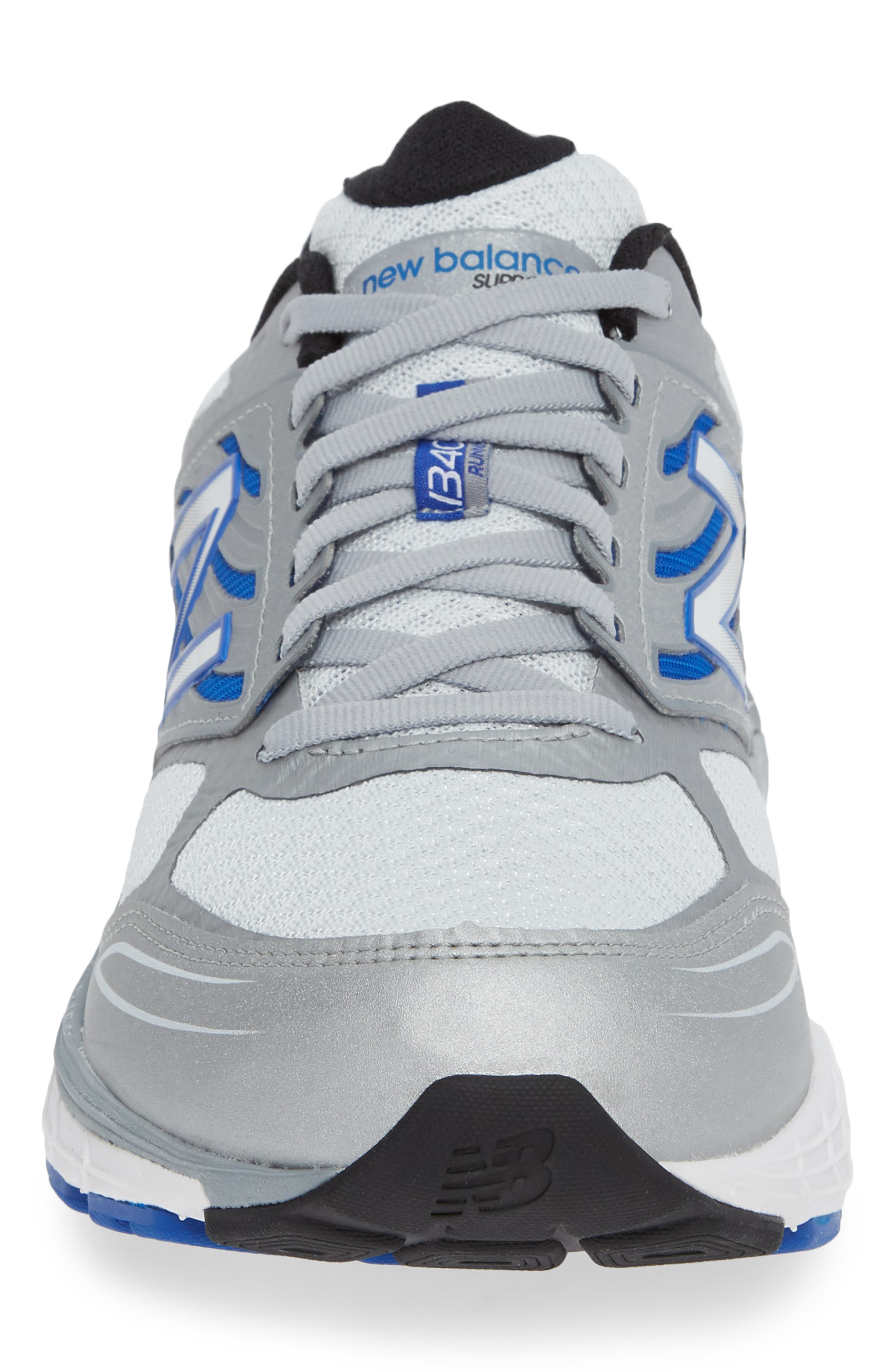 NEW BALANCE, 1340v3 Running Shoe, Alternate thumbnail 4, color, WHITE