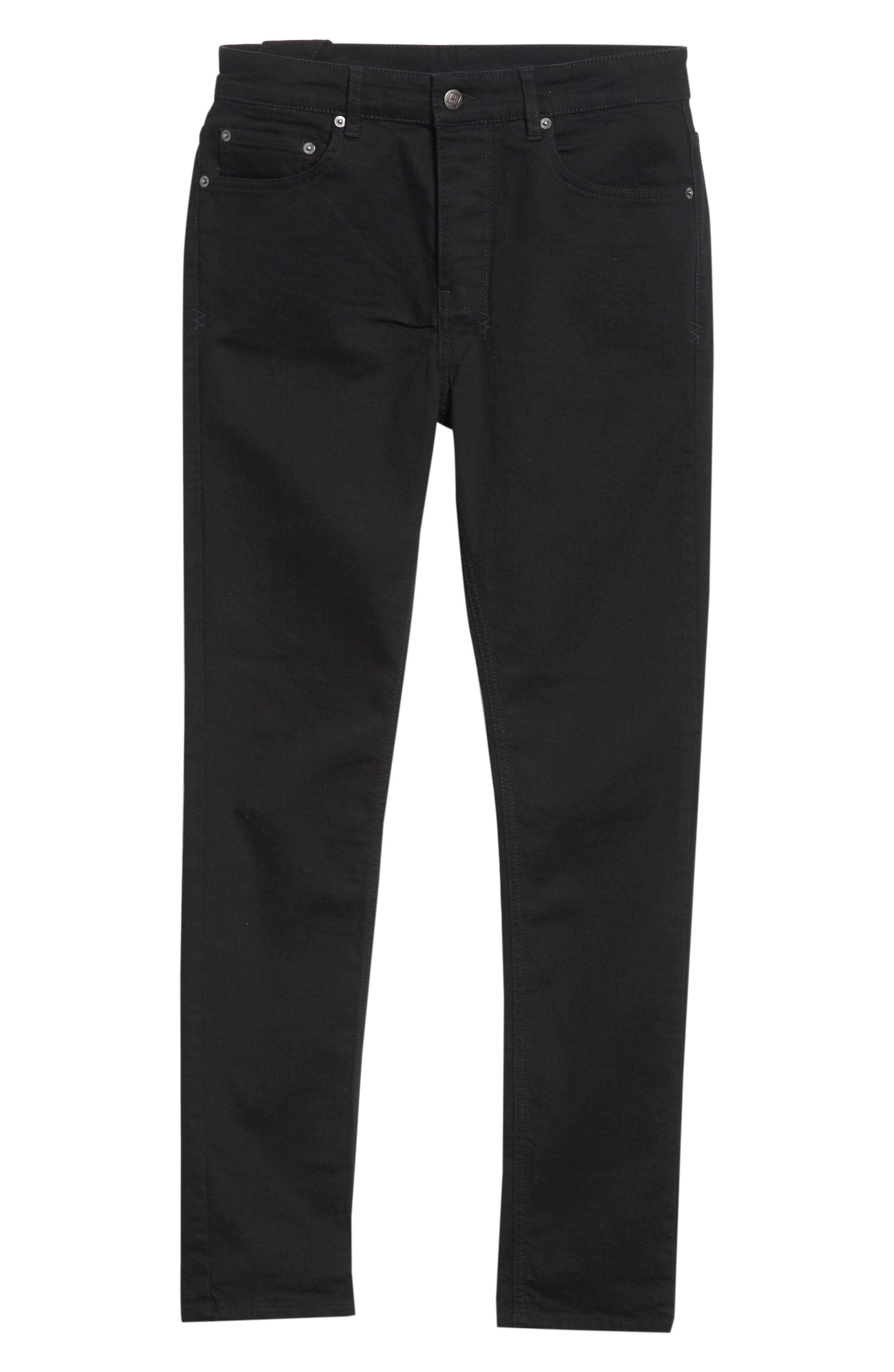 KSUBI, Chitch Laid Skinny Fit Jeans, Alternate thumbnail 7, color, BLACK