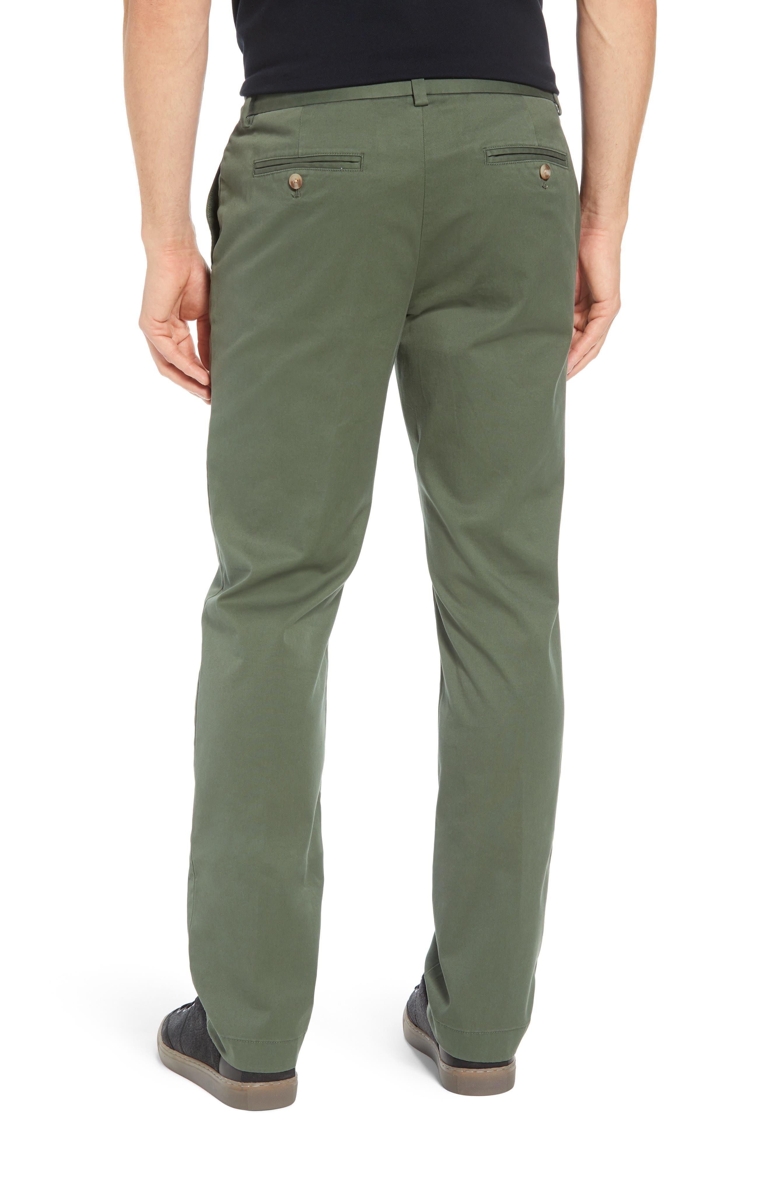 VINEYARD VINES, Breaker Flat Front Stretch Cotton Pants, Alternate thumbnail 2, color, CARGO GREEN