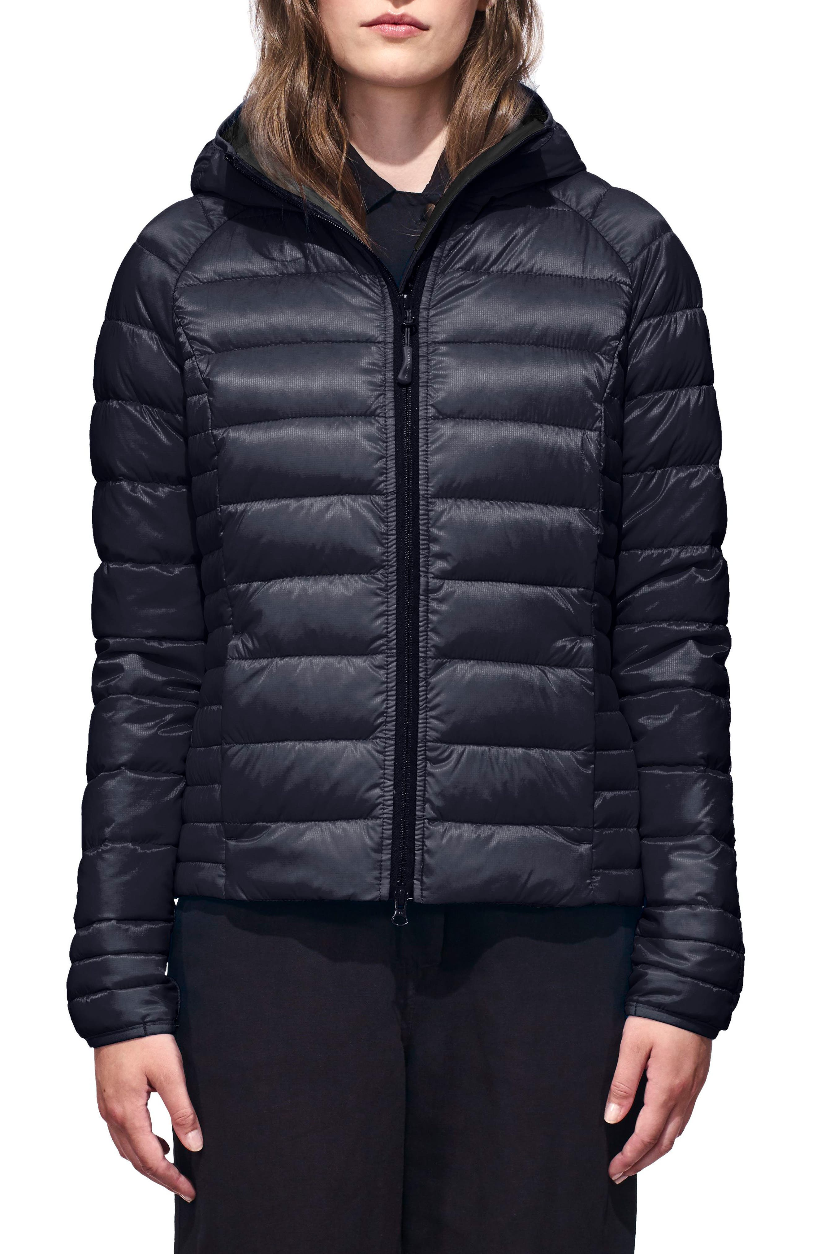 CANADA GOOSE 'Brookvale' Packable Hooded Quilted Down Jacket, Main, color, ADMIRAL BLUE/ BLACK
