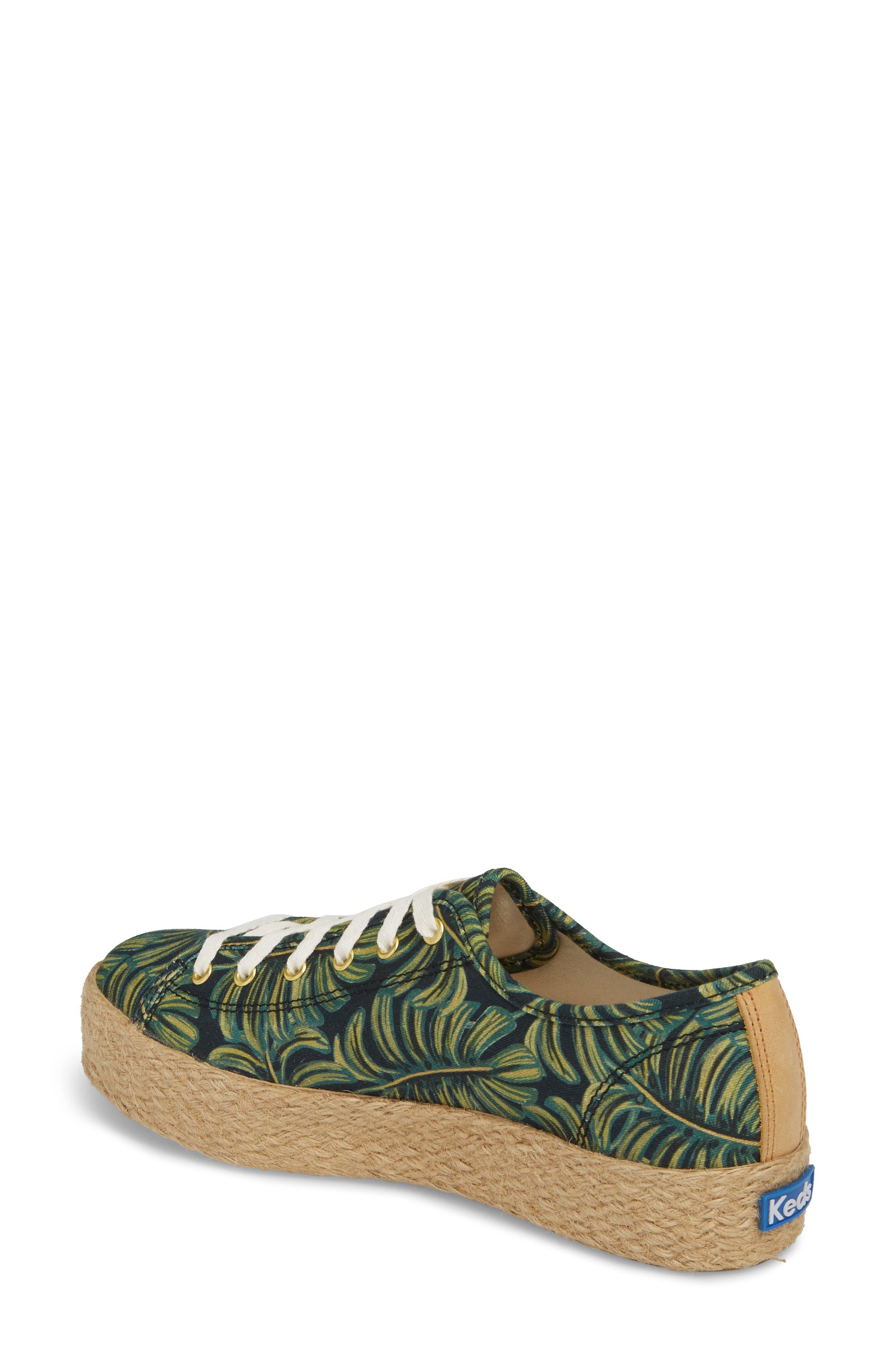 KEDS<SUP>®</SUP>, x Rifle Paper Co. Triple Kick Palms Platform Sneaker, Alternate thumbnail 2, color, 001