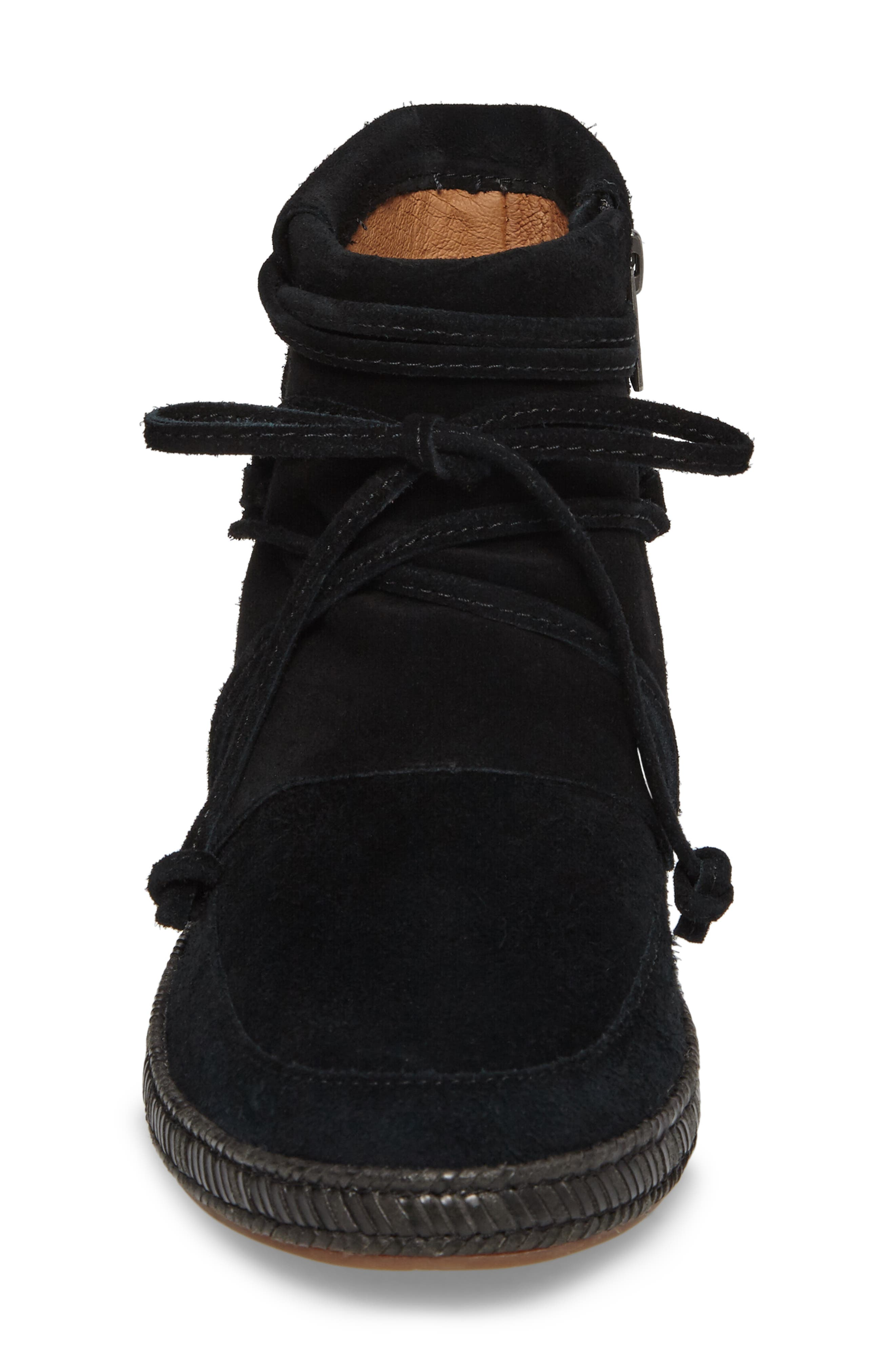 UGG<SUP>®</SUP>, Reid Boot, Alternate thumbnail 4, color, BLACK SUEDE