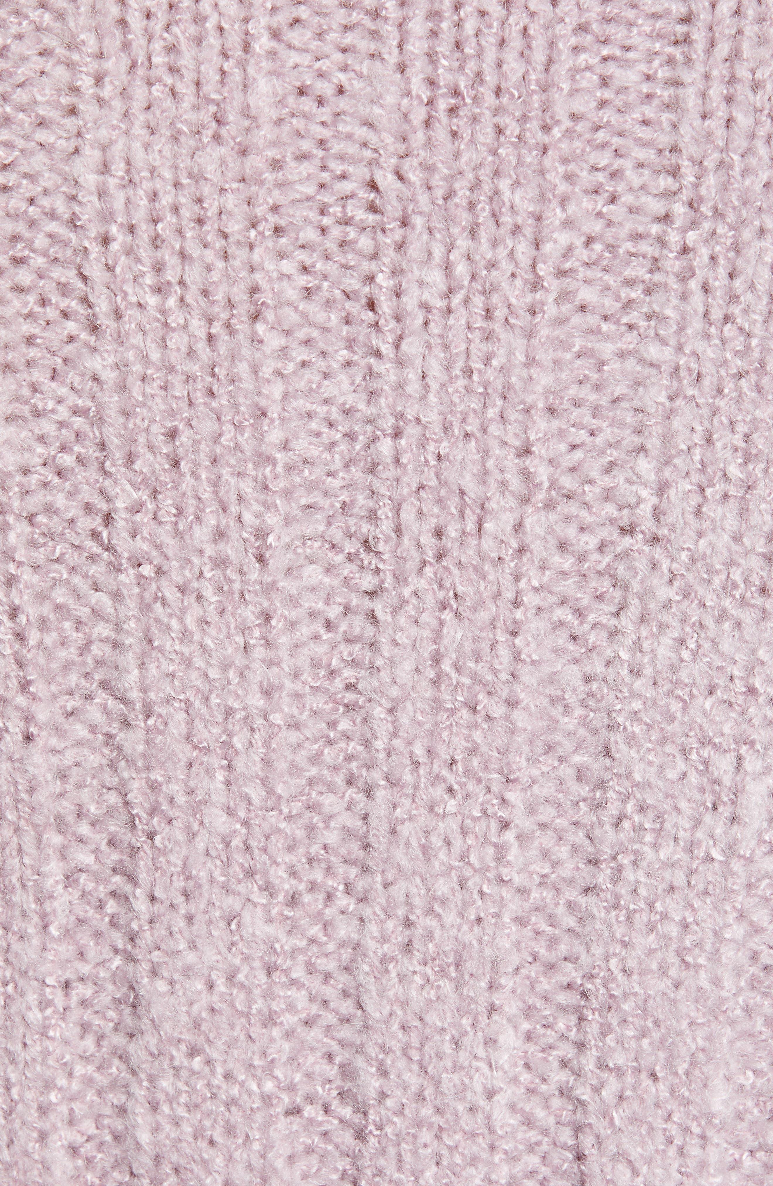J.O.A., Oversize Sweater, Alternate thumbnail 5, color, LAVENDER
