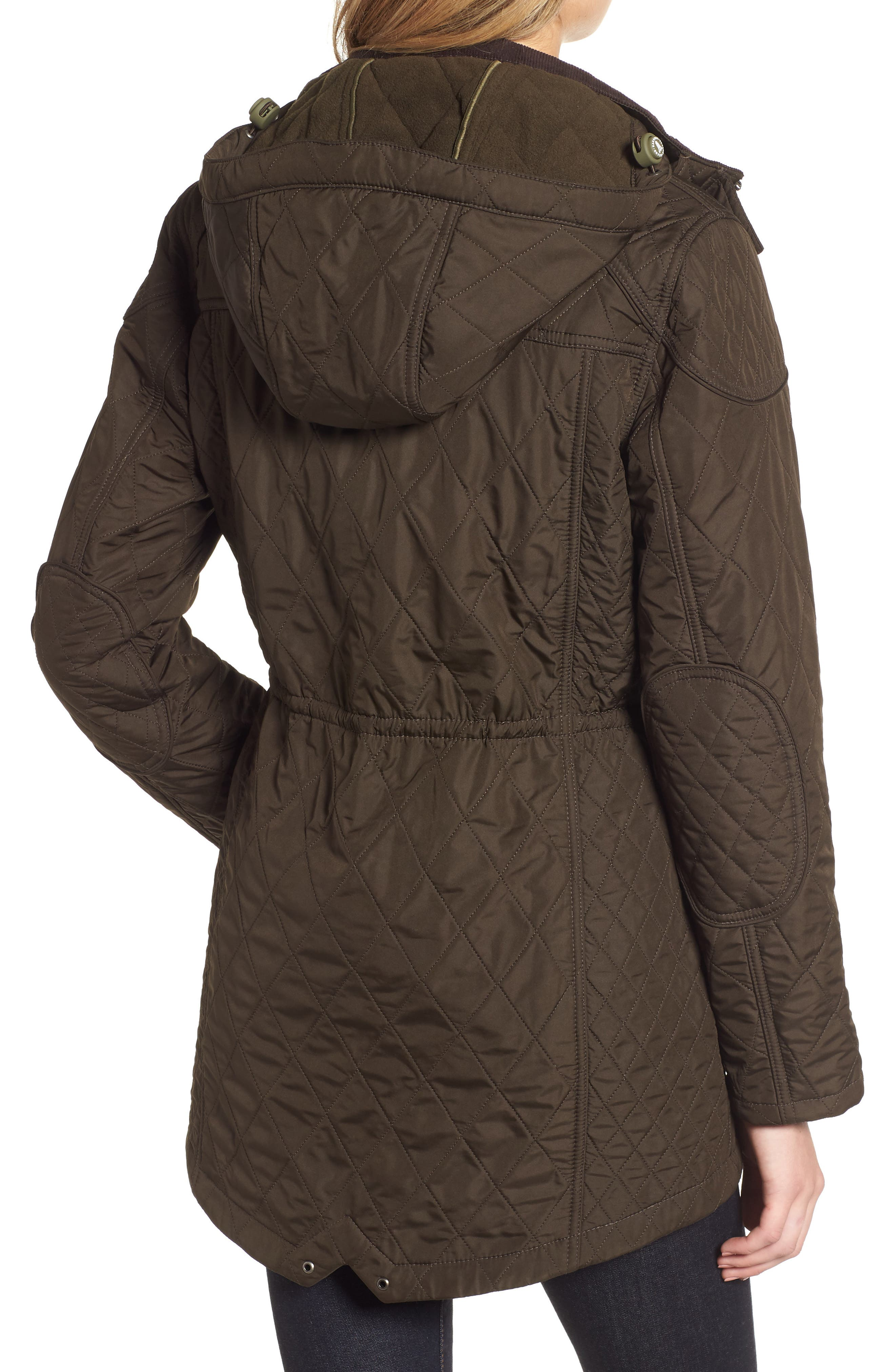 BARBOUR, 'Arrow' Quilted Anorak, Alternate thumbnail 2, color, 340