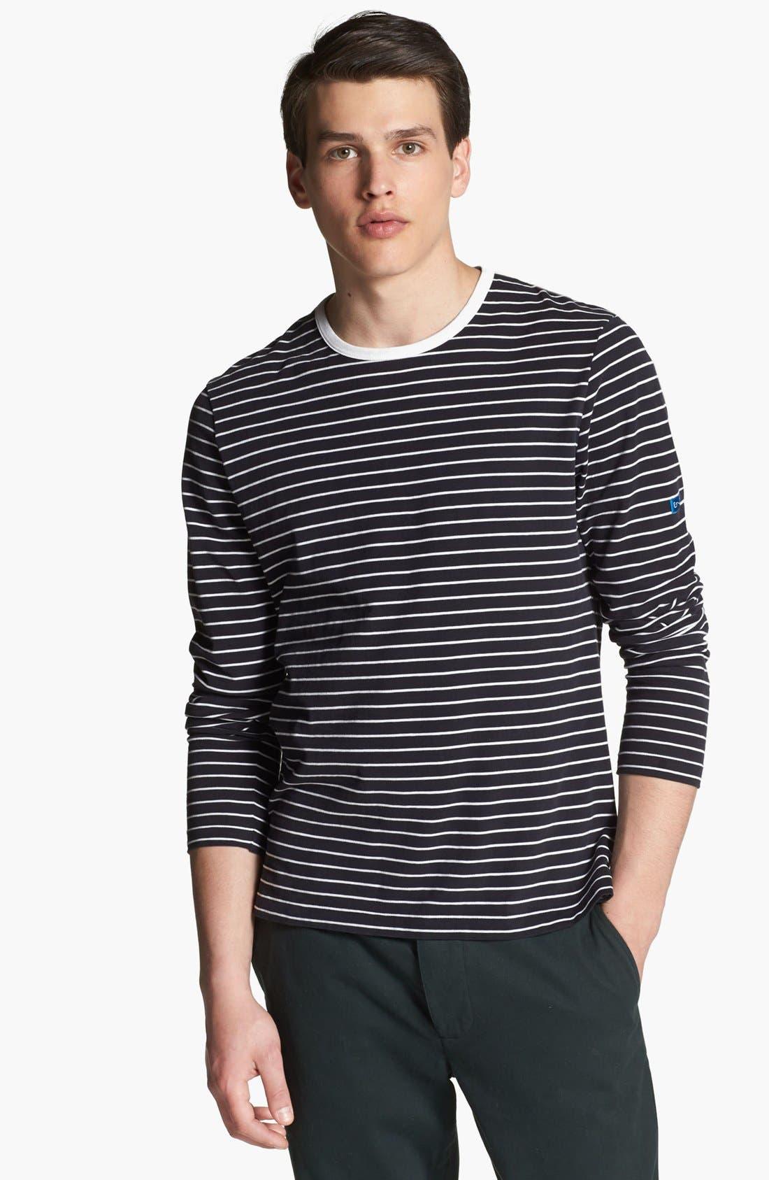 SHIPLEY & HALMOS, 'Spaniel' Stripe Long Sleeve T-Shirt, Main thumbnail 1, color, 414