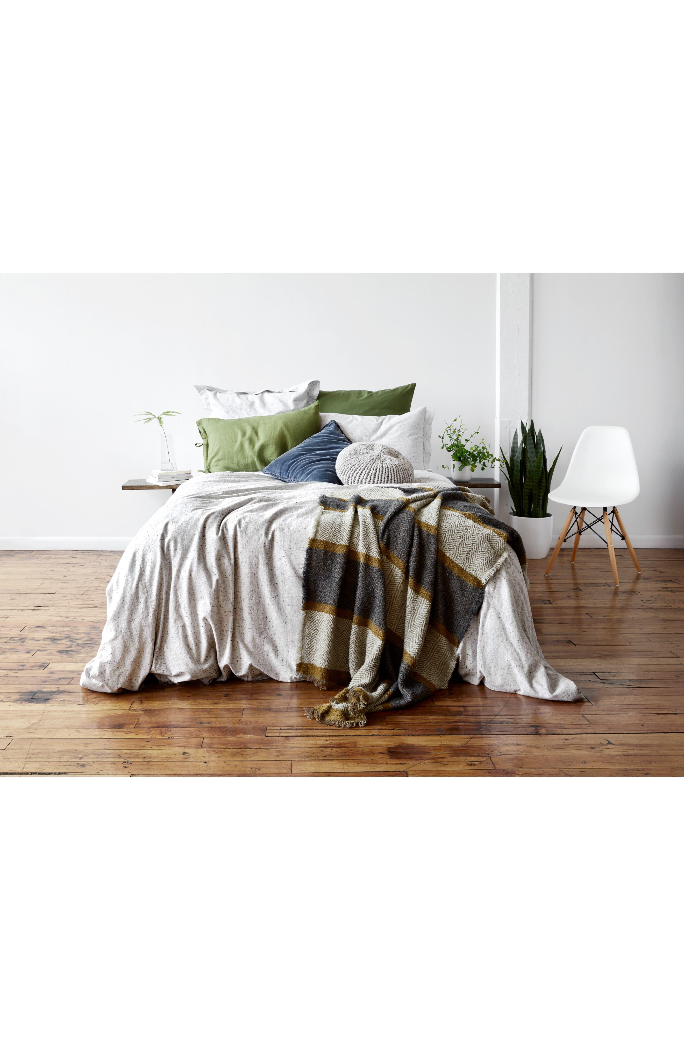TREASURE & BOND, Relaxed Cotton & Linen Euro Sham, Alternate thumbnail 4, color, OLIVE SPICE
