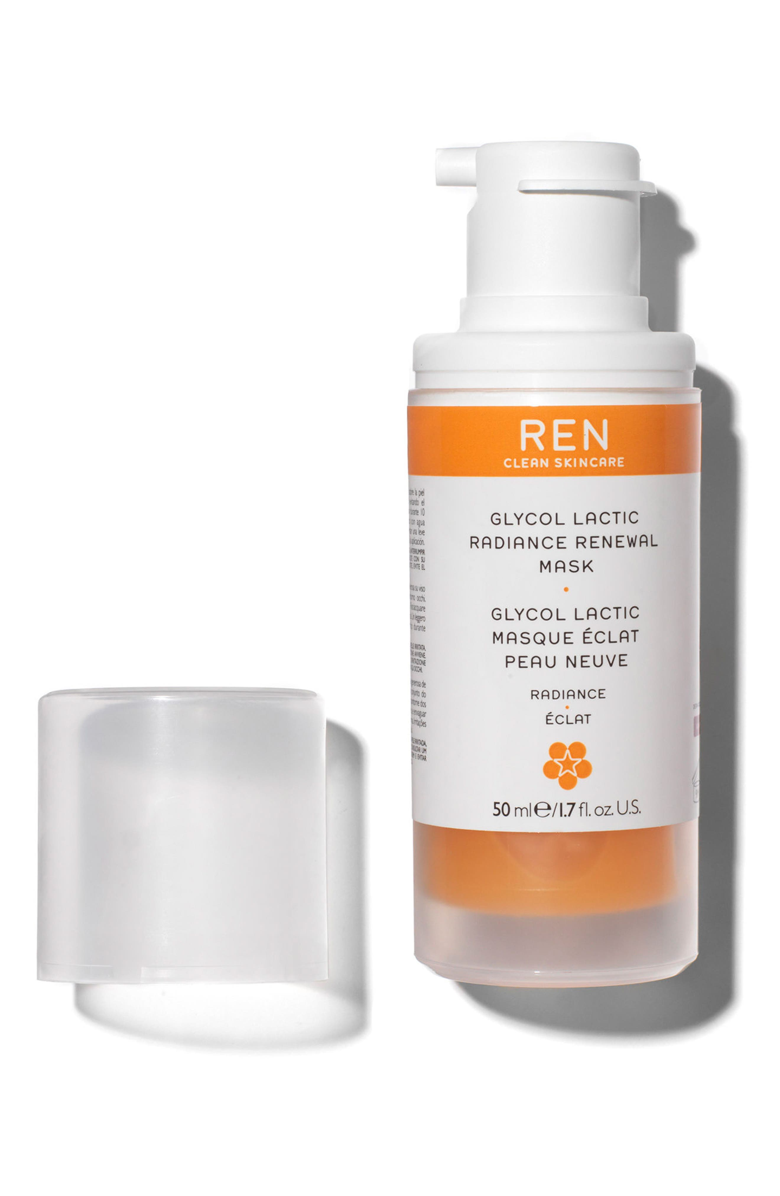 REN, SPACE.NK.apothecary REN Glycol Lactic Radiance Renewal Mask, Alternate thumbnail 2, color, NO COLOR