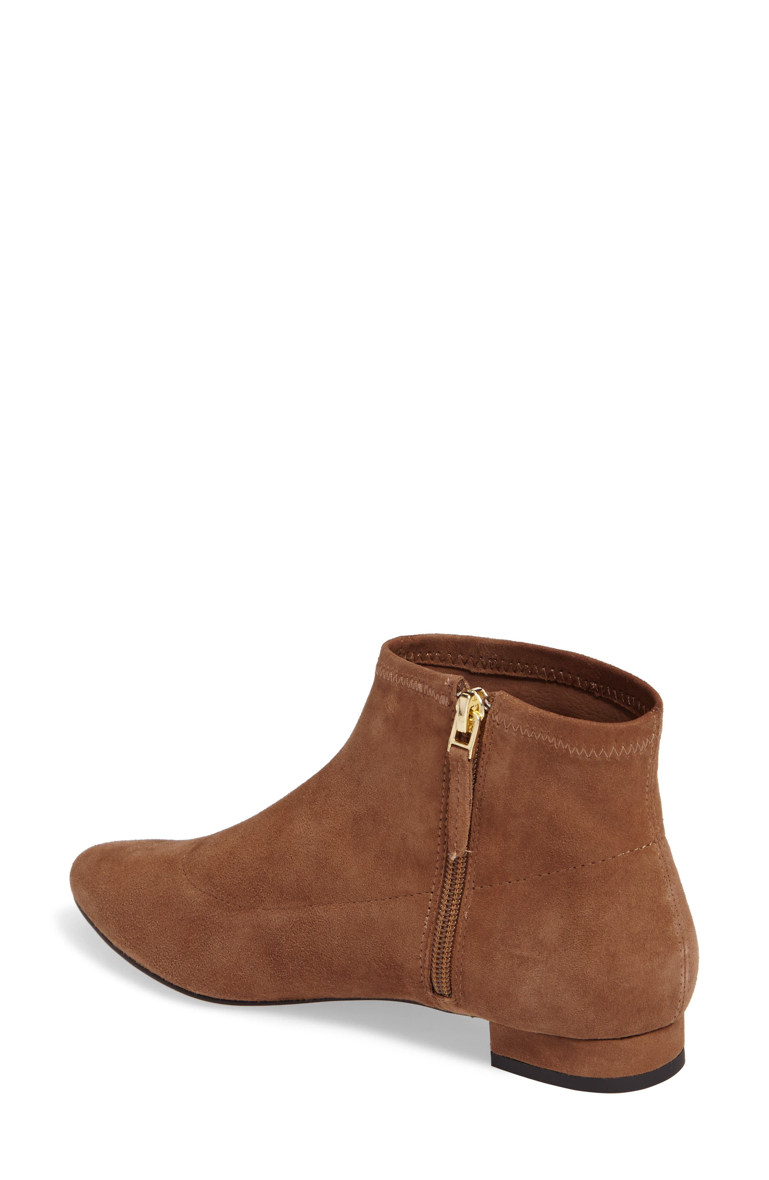SUDINI, Aletta Bootie, Alternate thumbnail 2, color, TOBACCO SUEDE