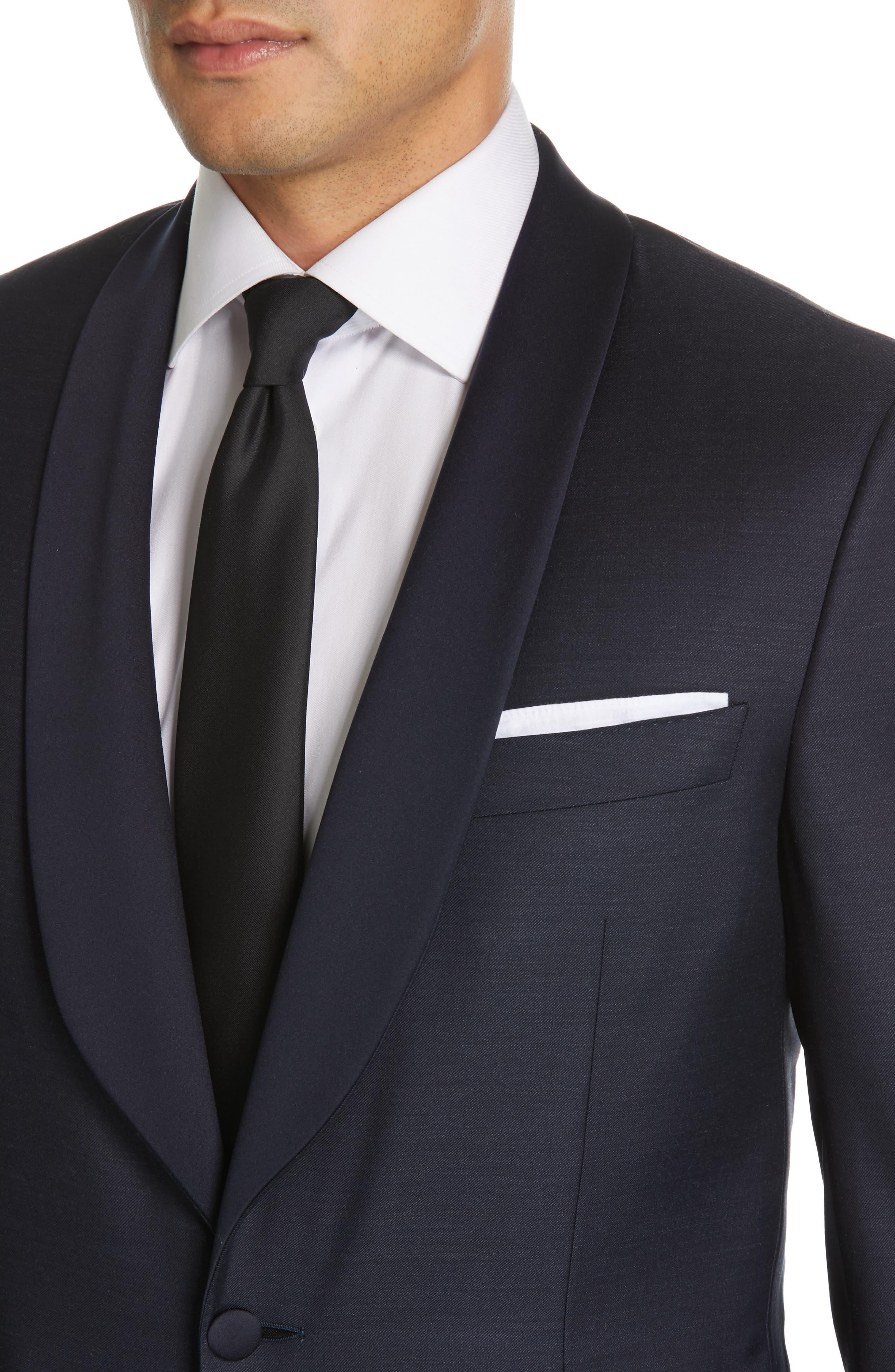 CANALI, Venieza Classic Fit Wool Tuxedo, Alternate thumbnail 4, color, NAVY