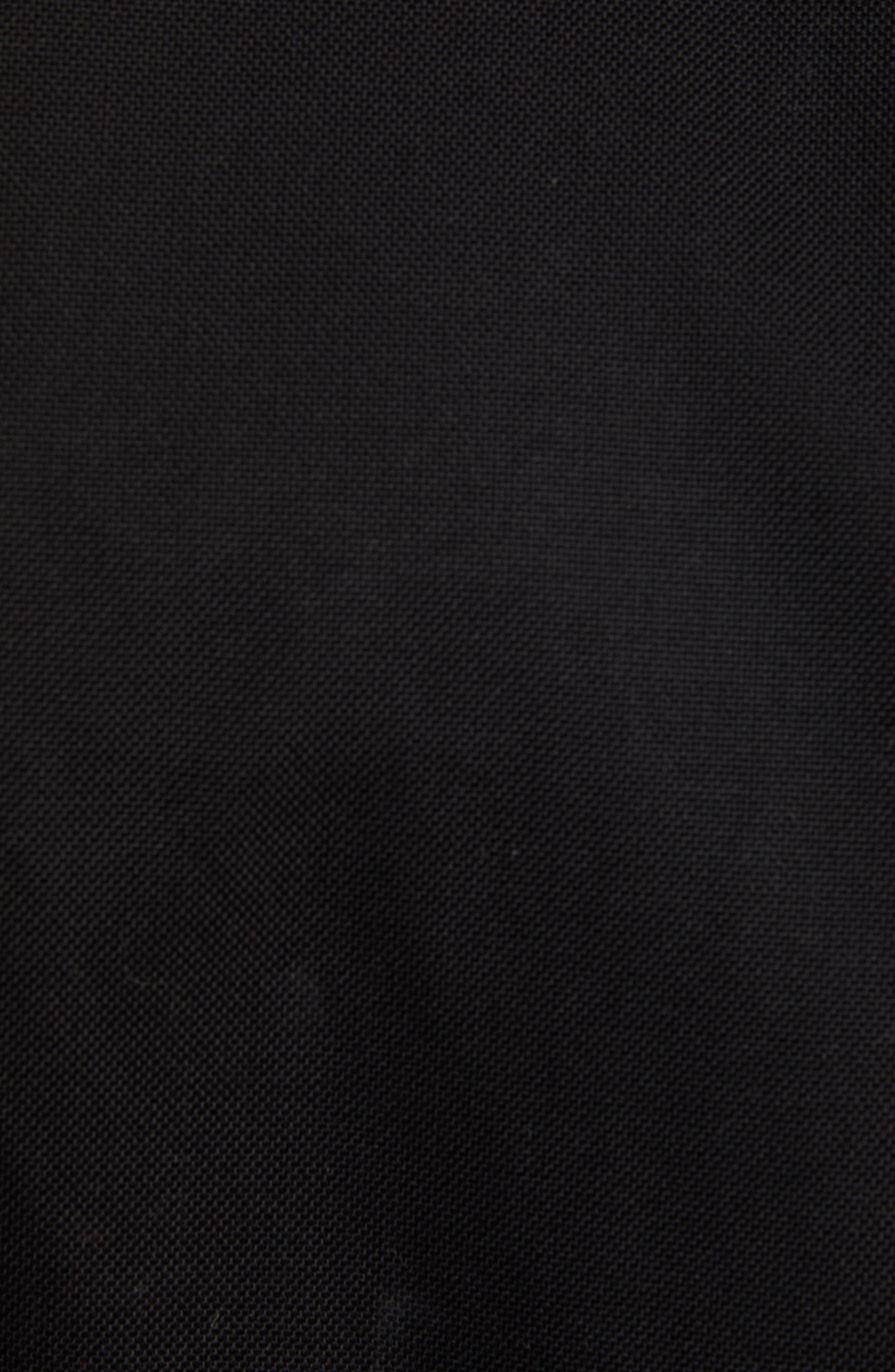 THE KOOPLES, Leather Detail Jacket, Alternate thumbnail 6, color, BLACK