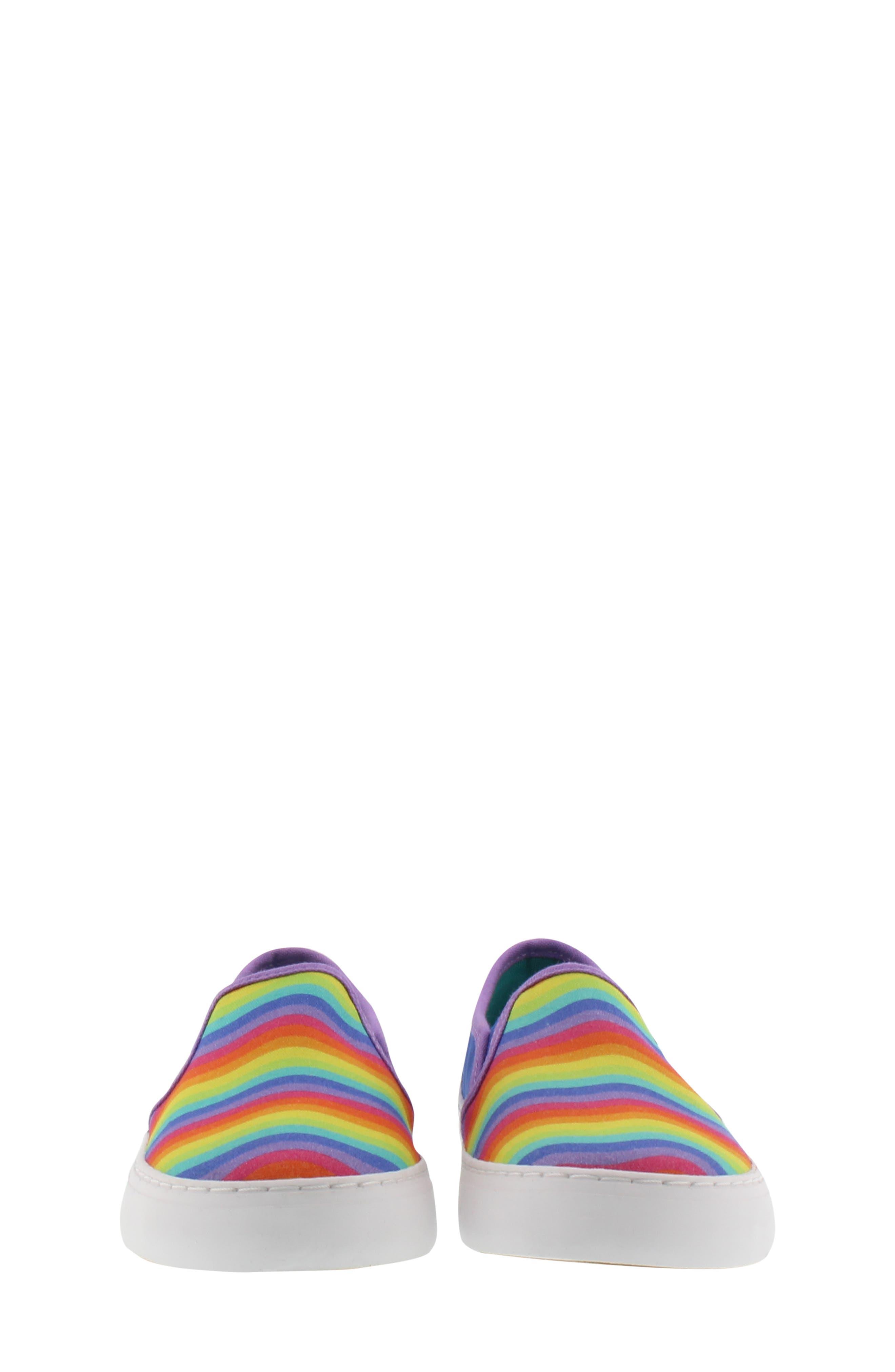 CHOOZE, Motion Slip-On Sneaker, Alternate thumbnail 4, color, BLUE MULTI