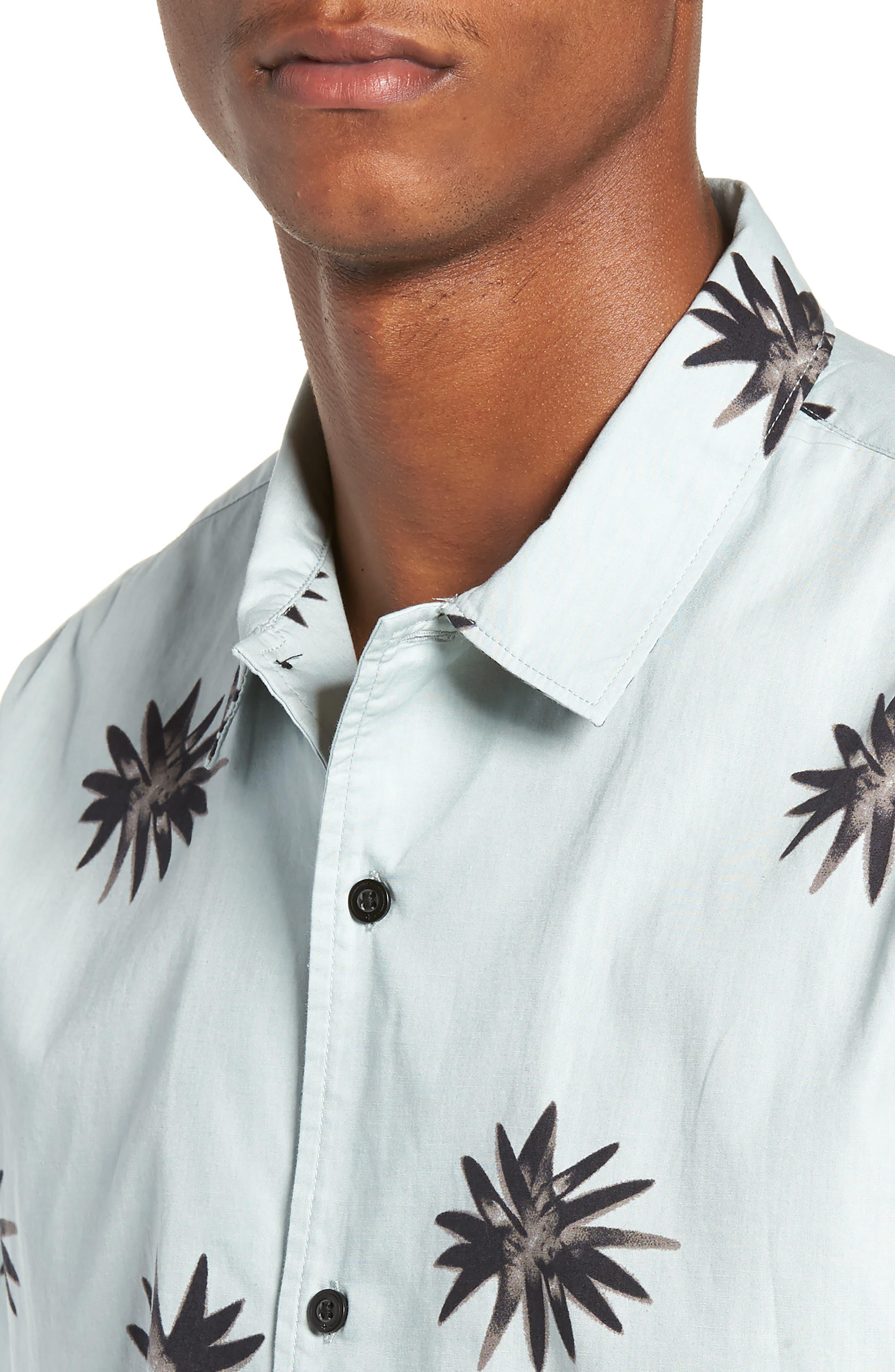 TAVIK, Villa Floral Woven Shirt, Alternate thumbnail 4, color, 083