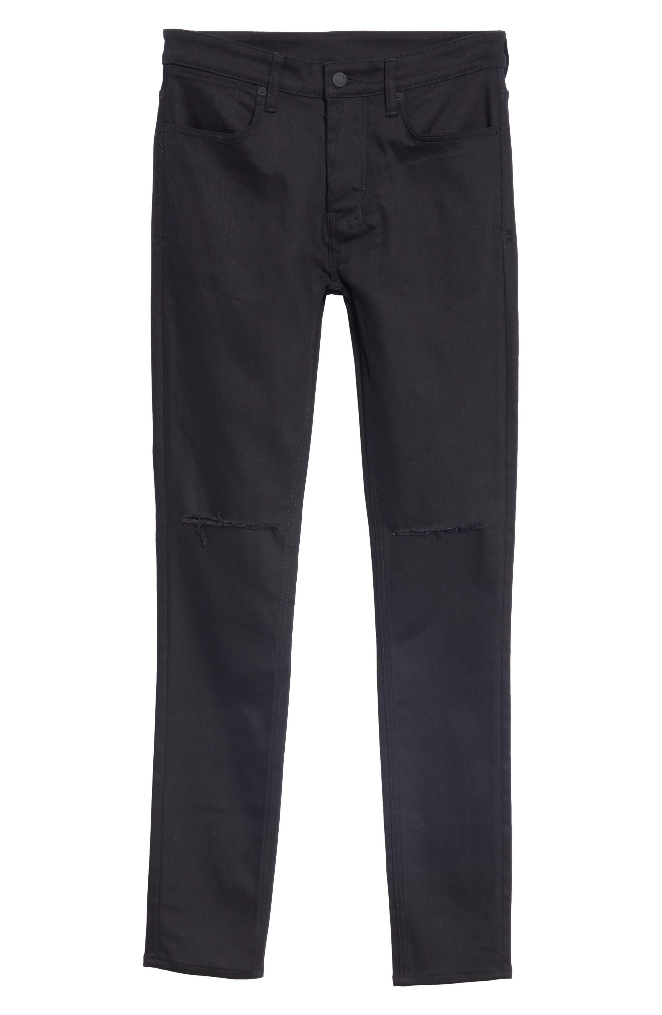 KSUBI, Van Winkle Ace Slice Jeans, Alternate thumbnail 6, color, BLACK