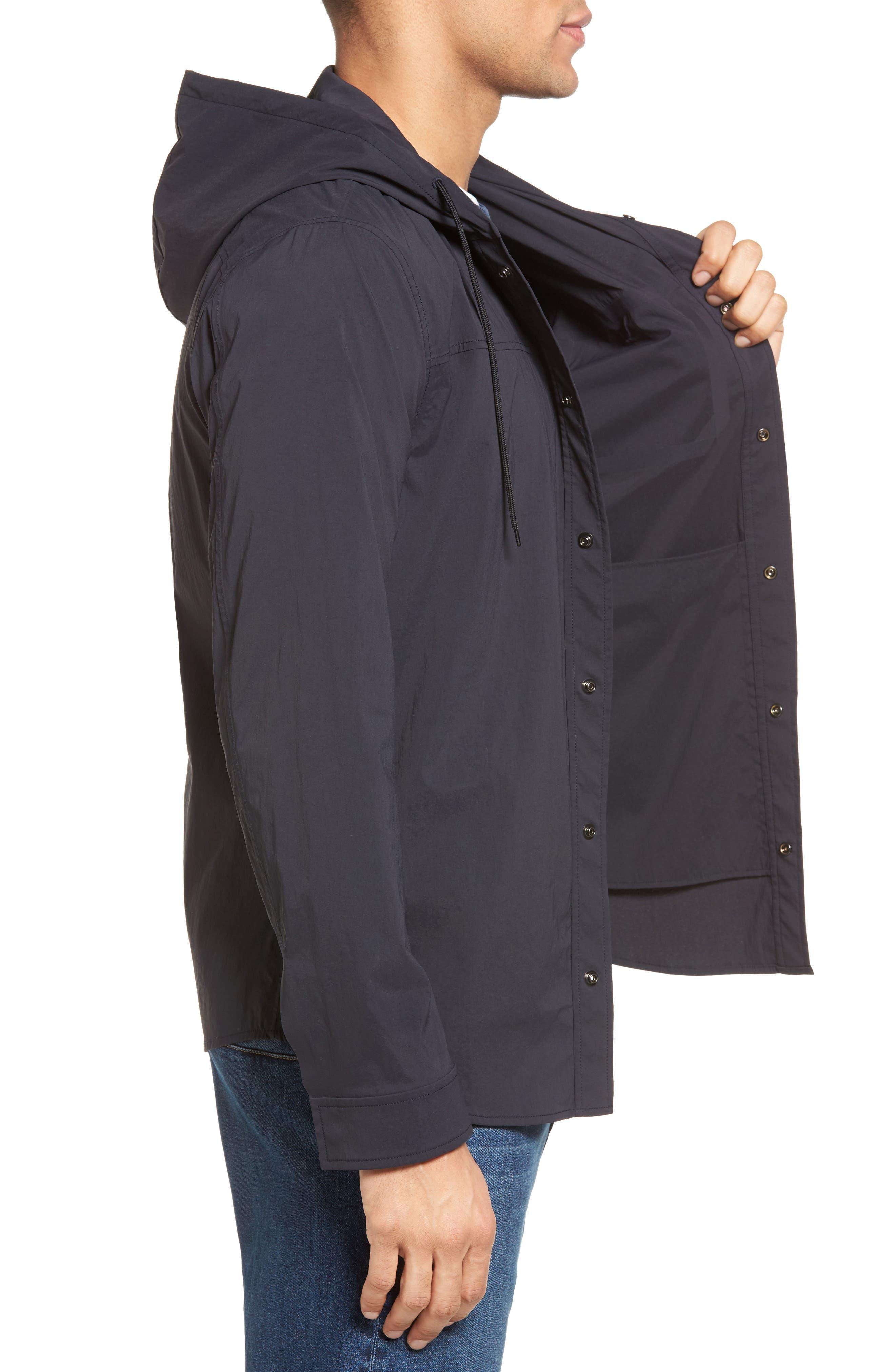 VINCE, Hooded Jacket, Alternate thumbnail 3, color, 403