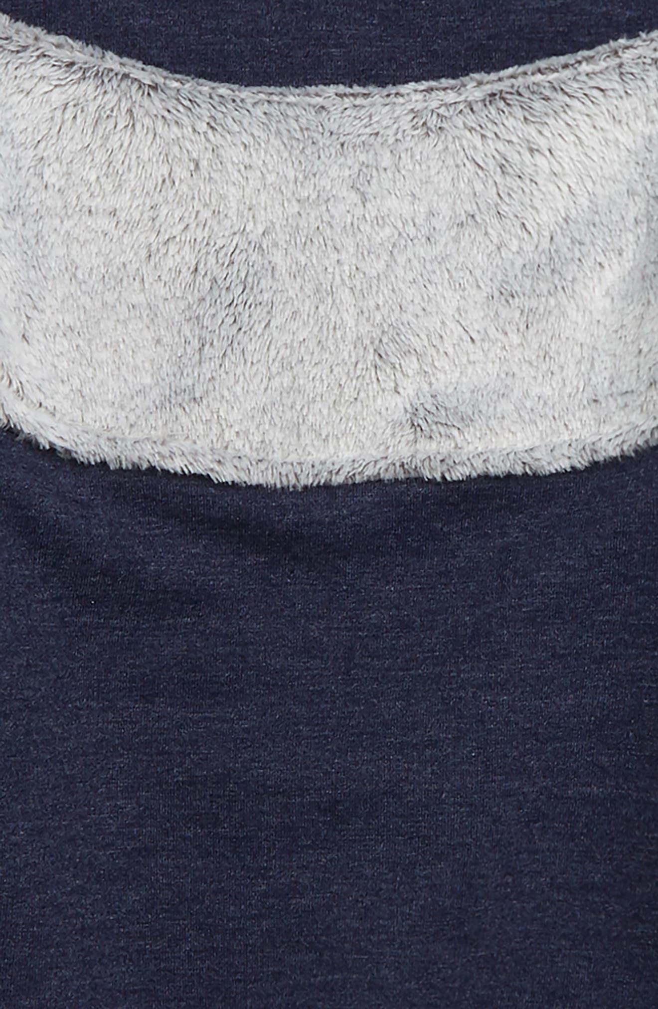 ZELLA GIRL, Sporty Stripe Fleece Sweatshirt, Alternate thumbnail 2, color, 410