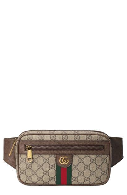 e71af7ae5c12 Gucci Ophidia Gg Supreme Canvas Belt Bag In B.Eb/N.Acero/Vrv ...