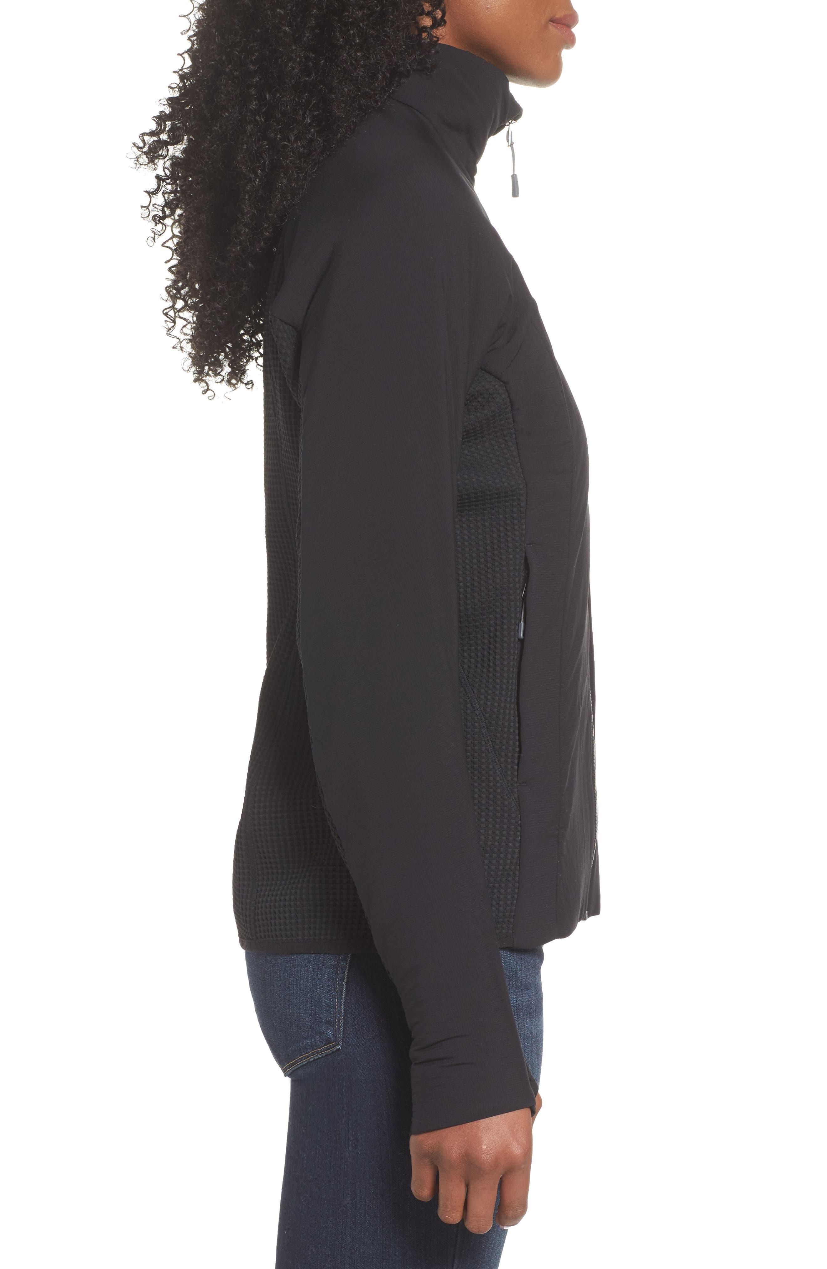 PATAGONIA, Nano-Air<sup>®</sup> Light Hybrid Jacket, Alternate thumbnail 3, color, BLACK