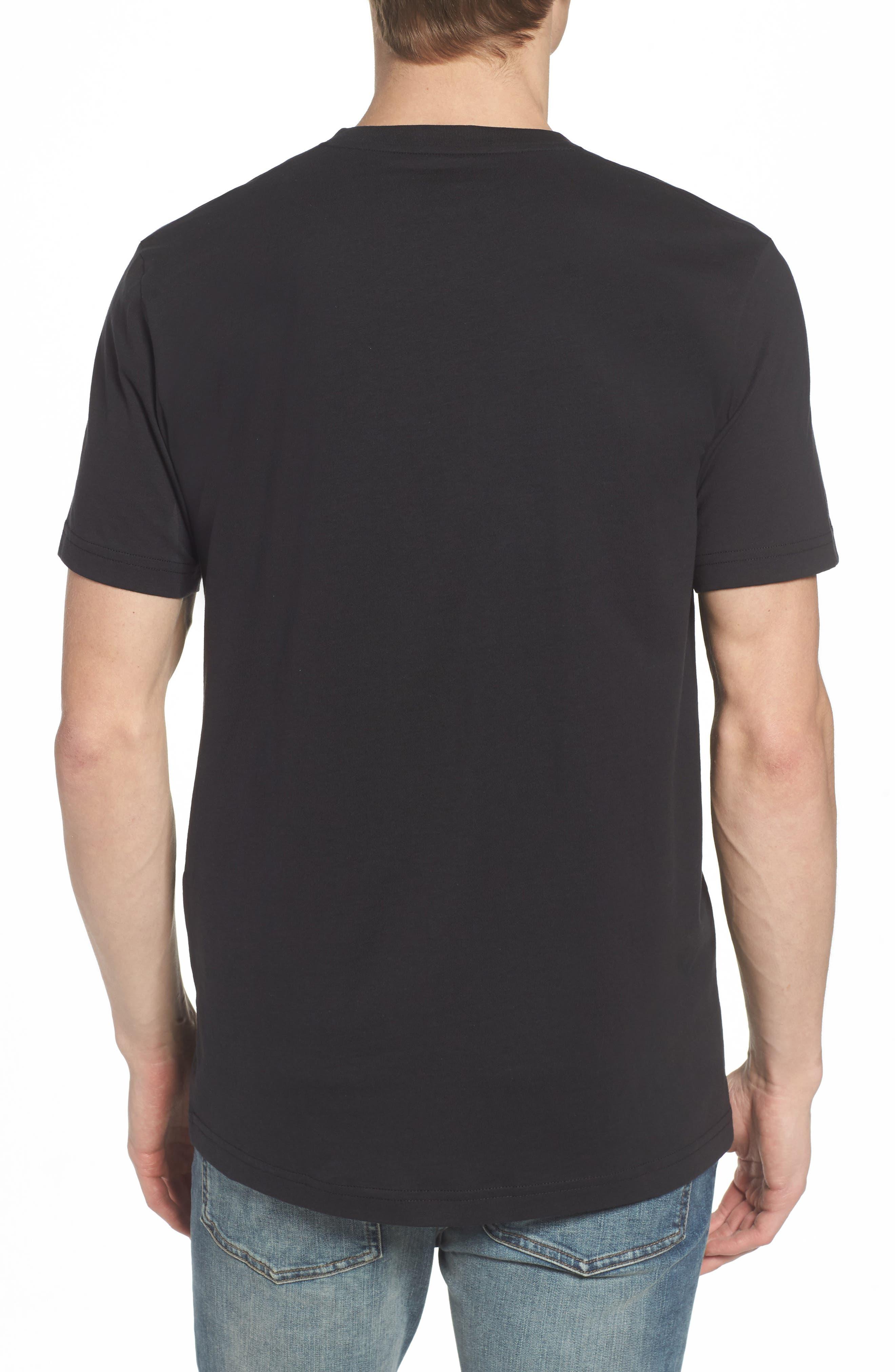 PSYCHO BUNNY, V-Neck T-Shirt, Alternate thumbnail 2, color, BLACK
