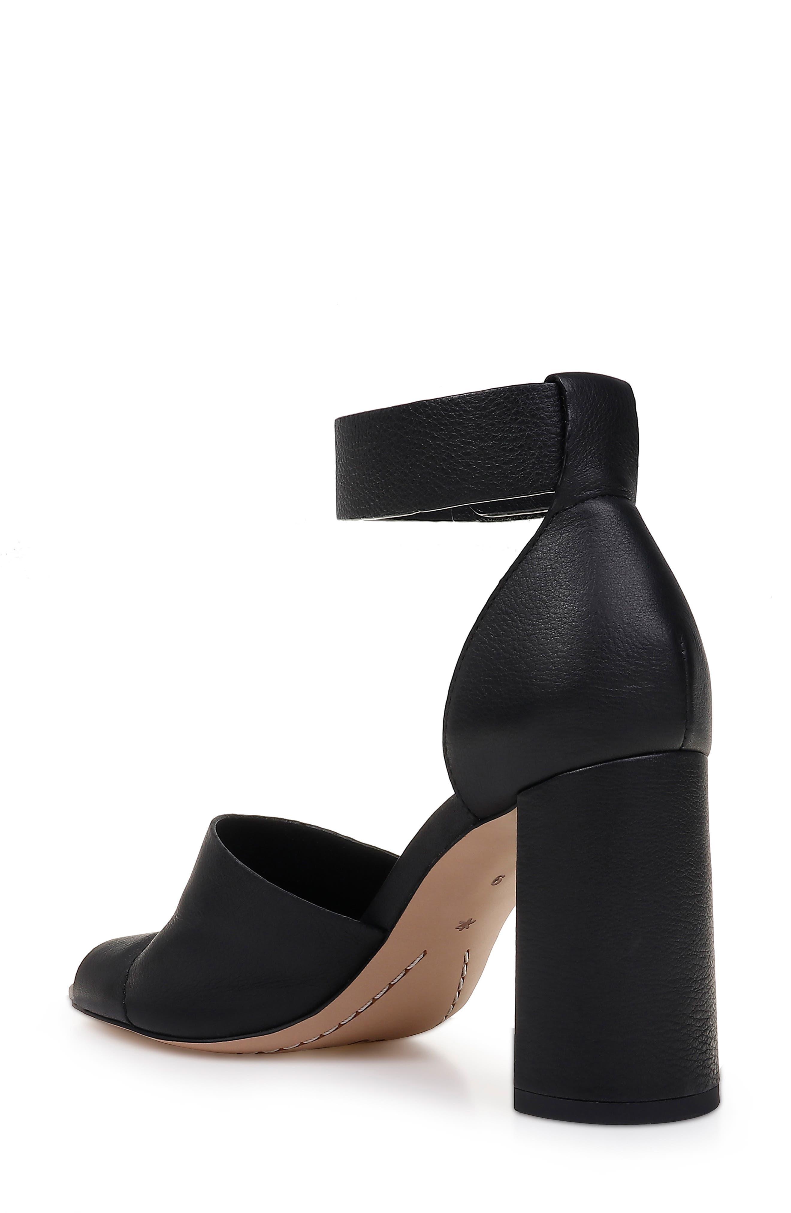 SPLENDID, Thandie Ankle Strap Sandal, Alternate thumbnail 2, color, BLACK NUBUCK LEATHER