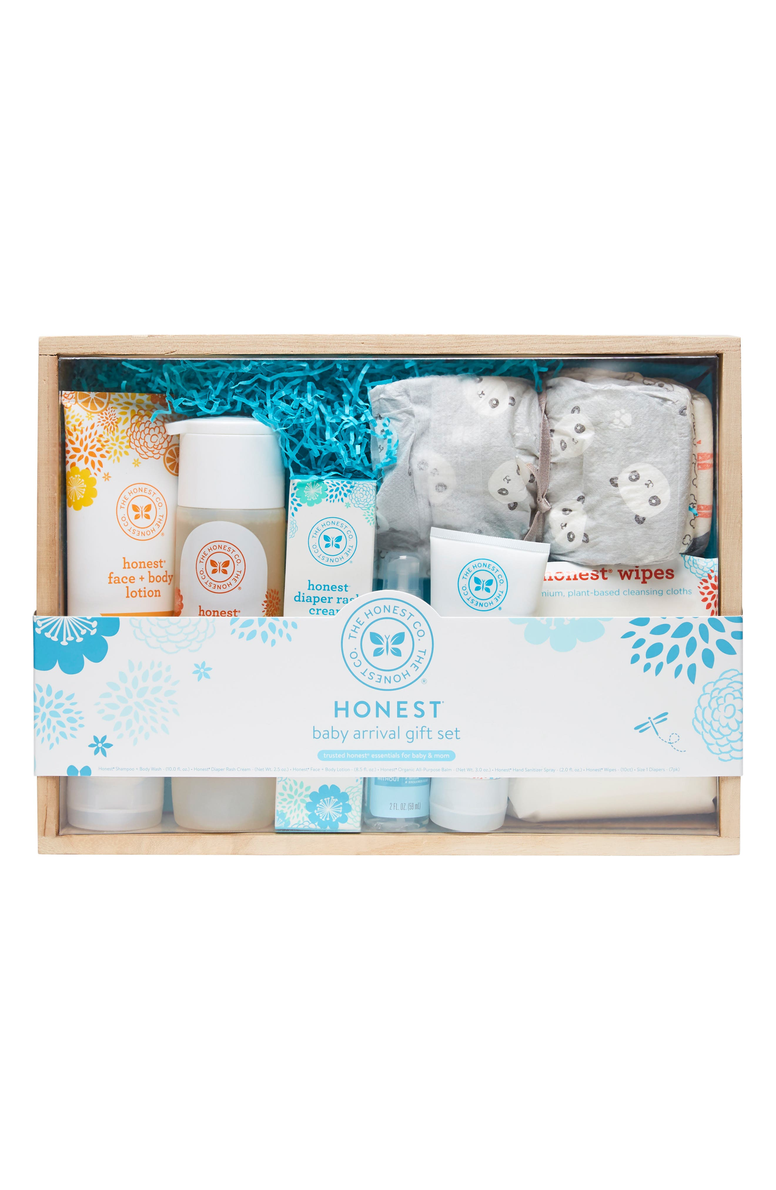 THE HONEST COMPANY, Baby Arrival Gift Set, Main thumbnail 1, color, BLUE