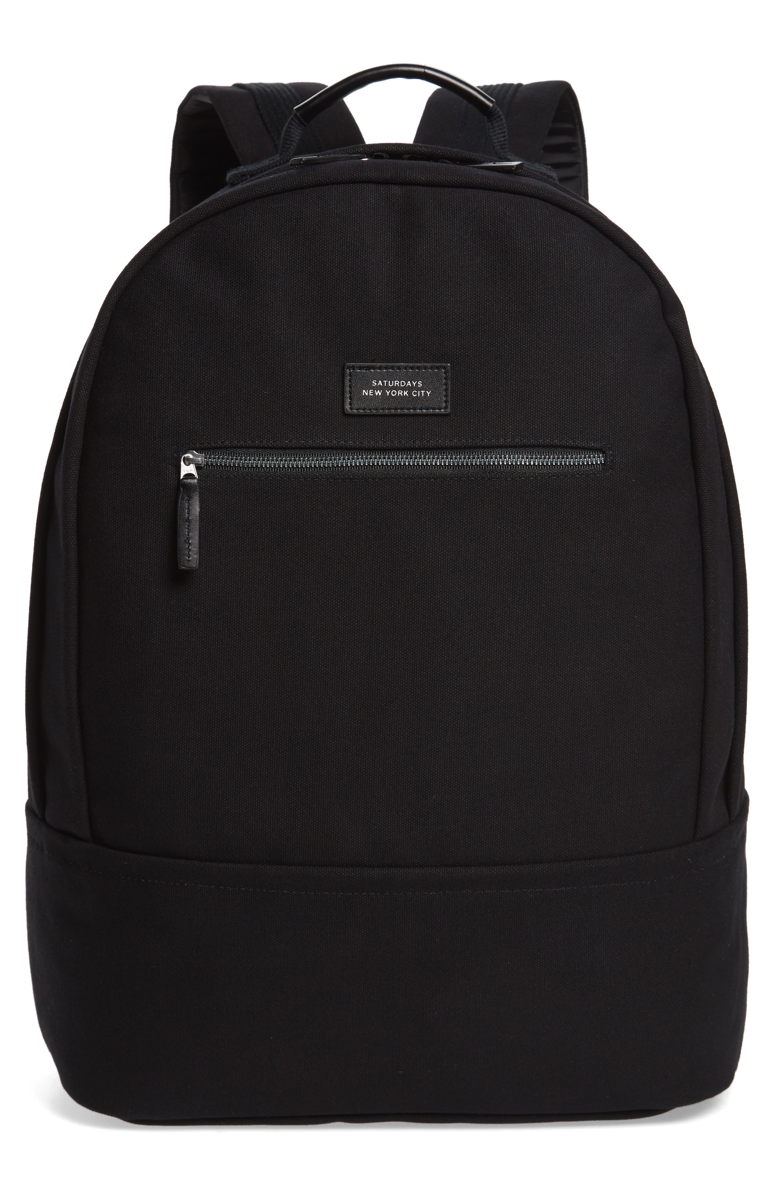 SATURDAYS NYC Hannes Water Repellent Backpack, Main, color, BLACK