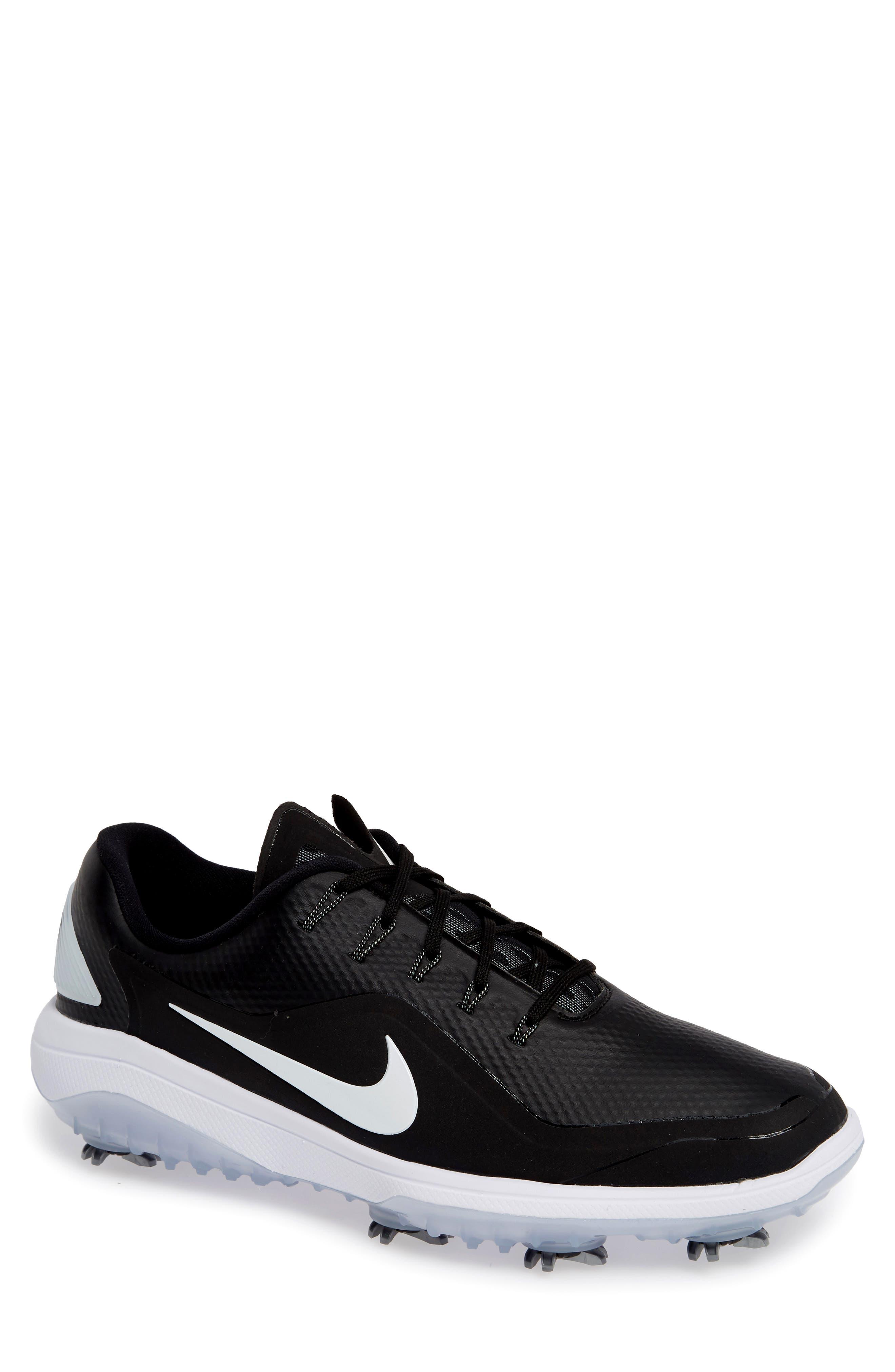 NIKE, React Vapor 2 Golf Shoe, Main thumbnail 1, color, BLACK/ METALLIC WHITE