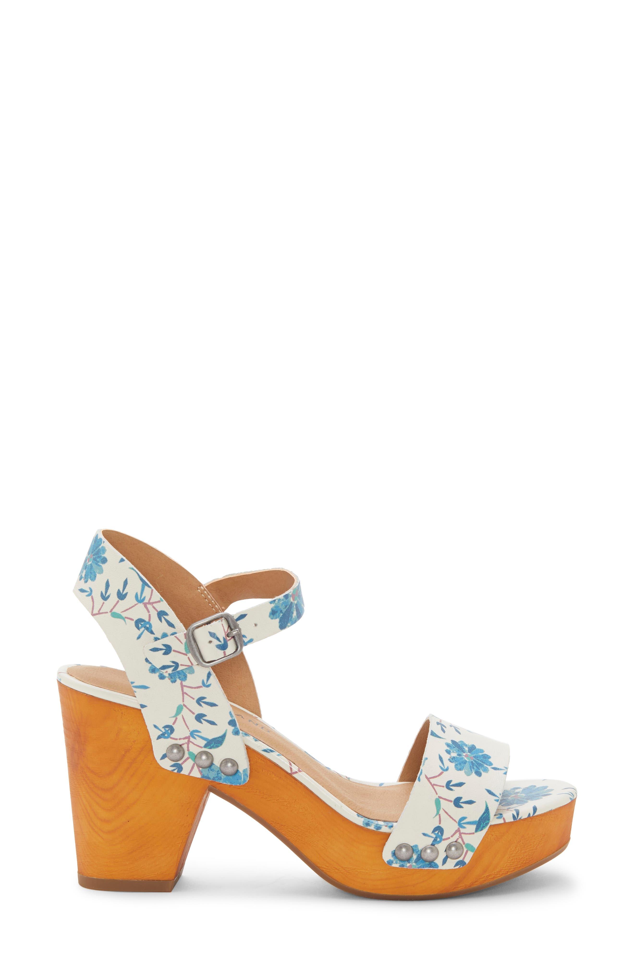 LUCKY BRAND, Trisa Platform Sandal, Alternate thumbnail 3, color, BIRCH LEATHER