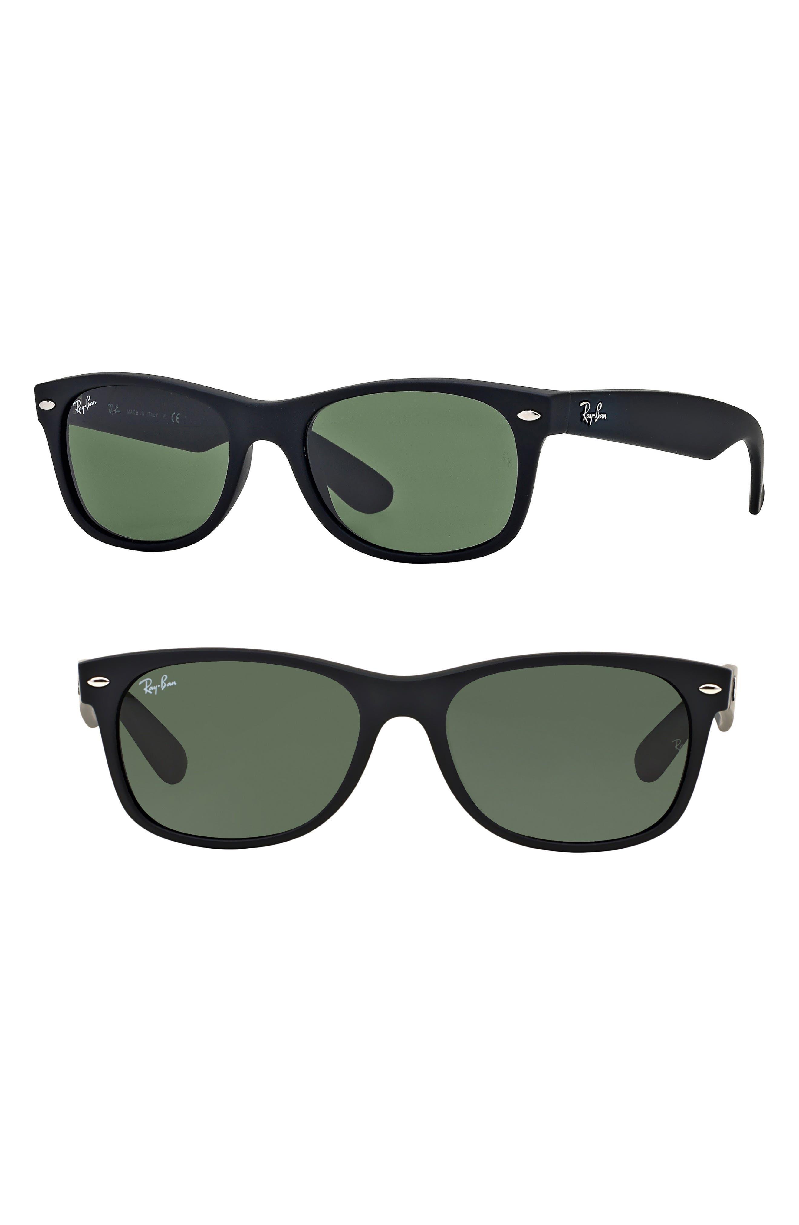 Ray-Ban Standard New Wayfarer 55Mm Sunglasses - Black Rubber