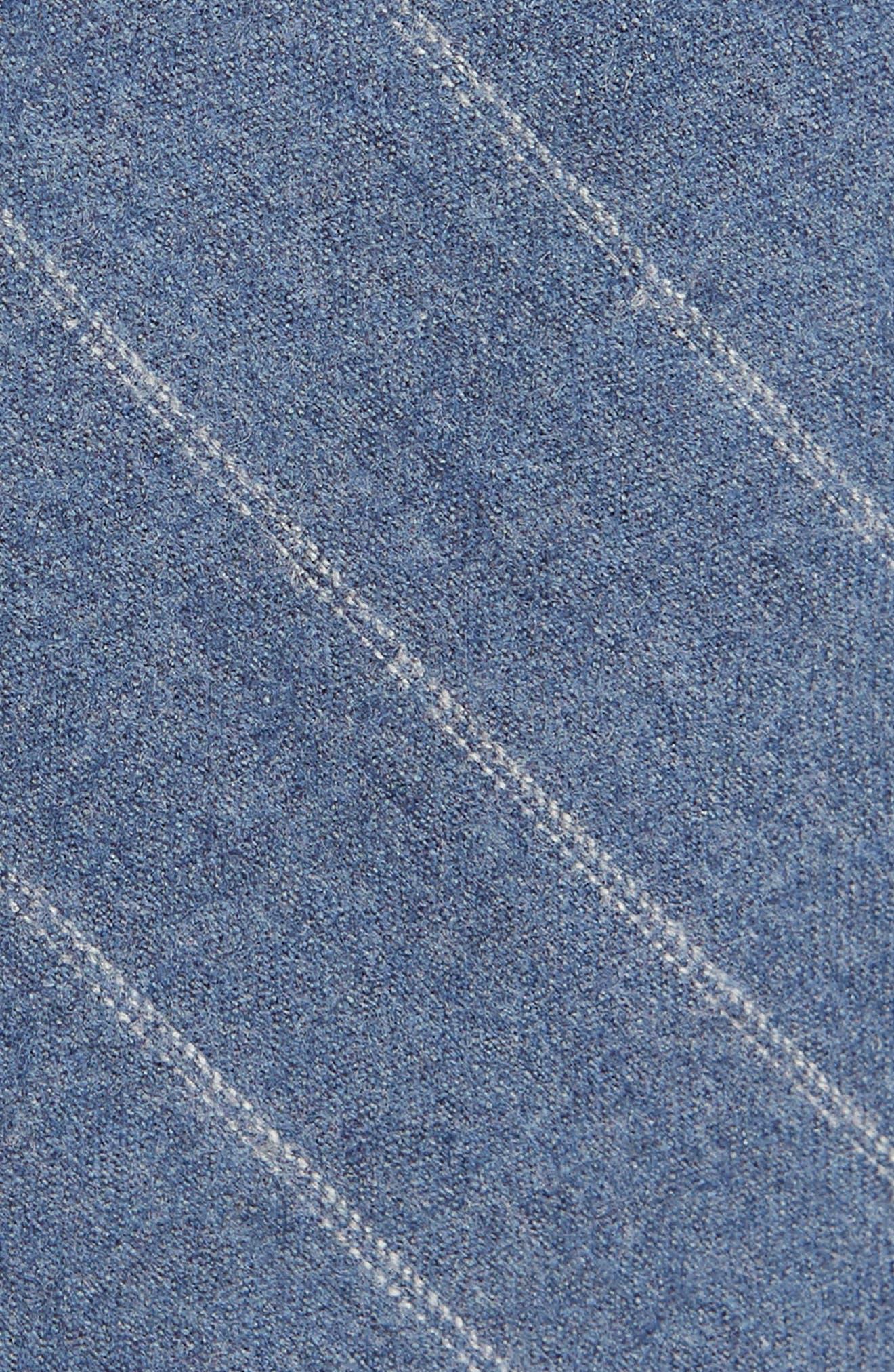 THE TIE BAR, Giallo Stripe Wool Tie, Alternate thumbnail 2, color, LIGHT BLUE