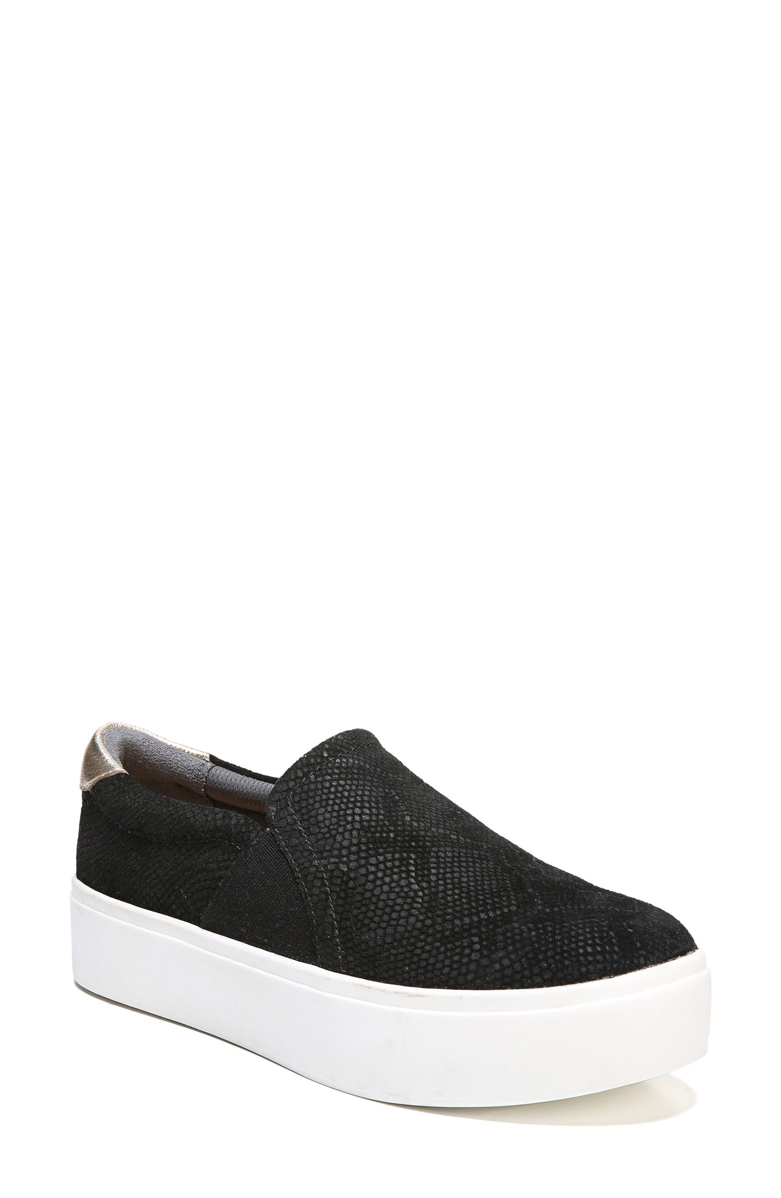 DR. SCHOLL'S Abbot Slip-On Sneaker, Main, color, BLACK SUEDE