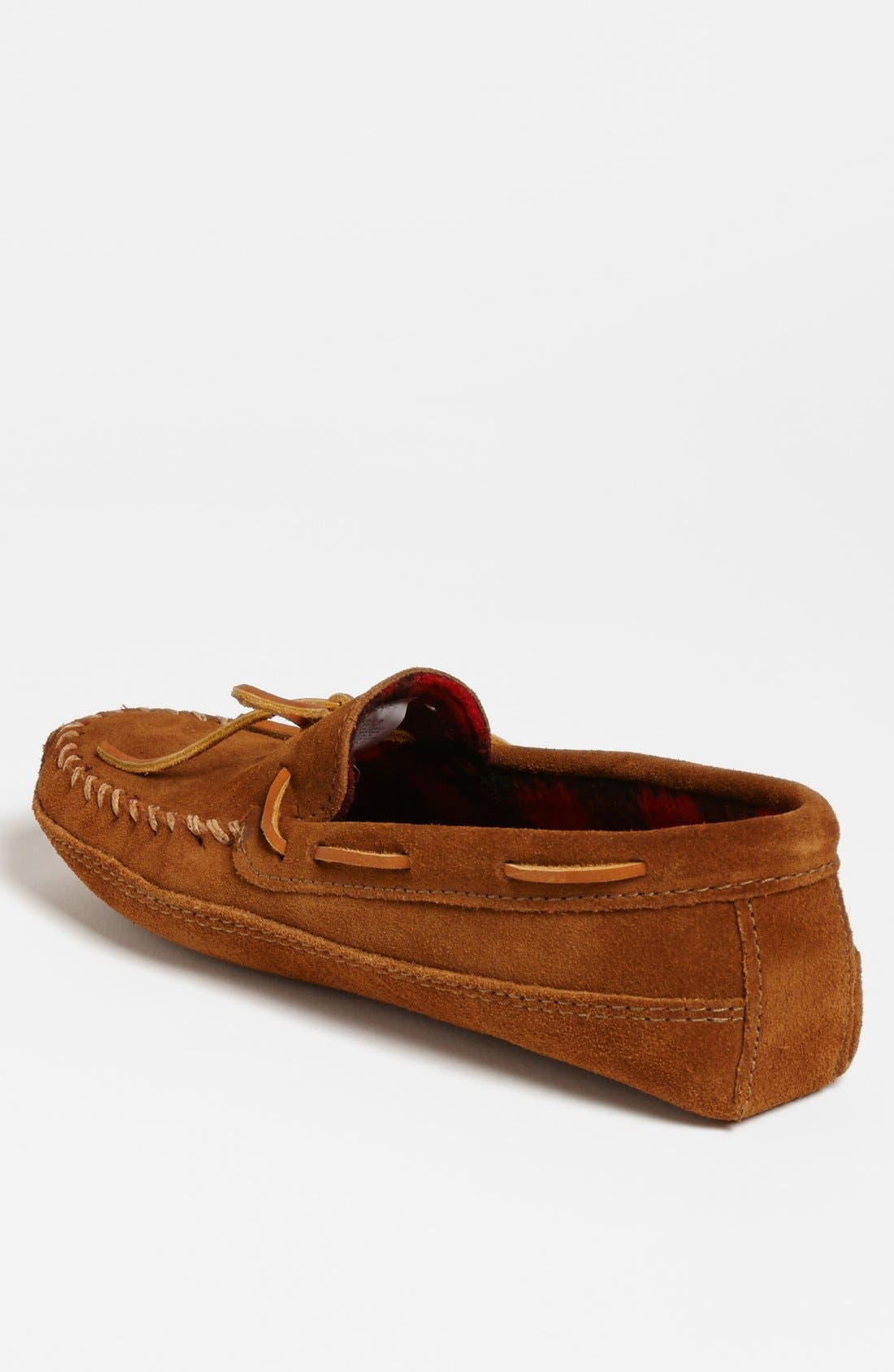 MINNETONKA, Suede Moccasin, Alternate thumbnail 2, color, BROWN SUEDE
