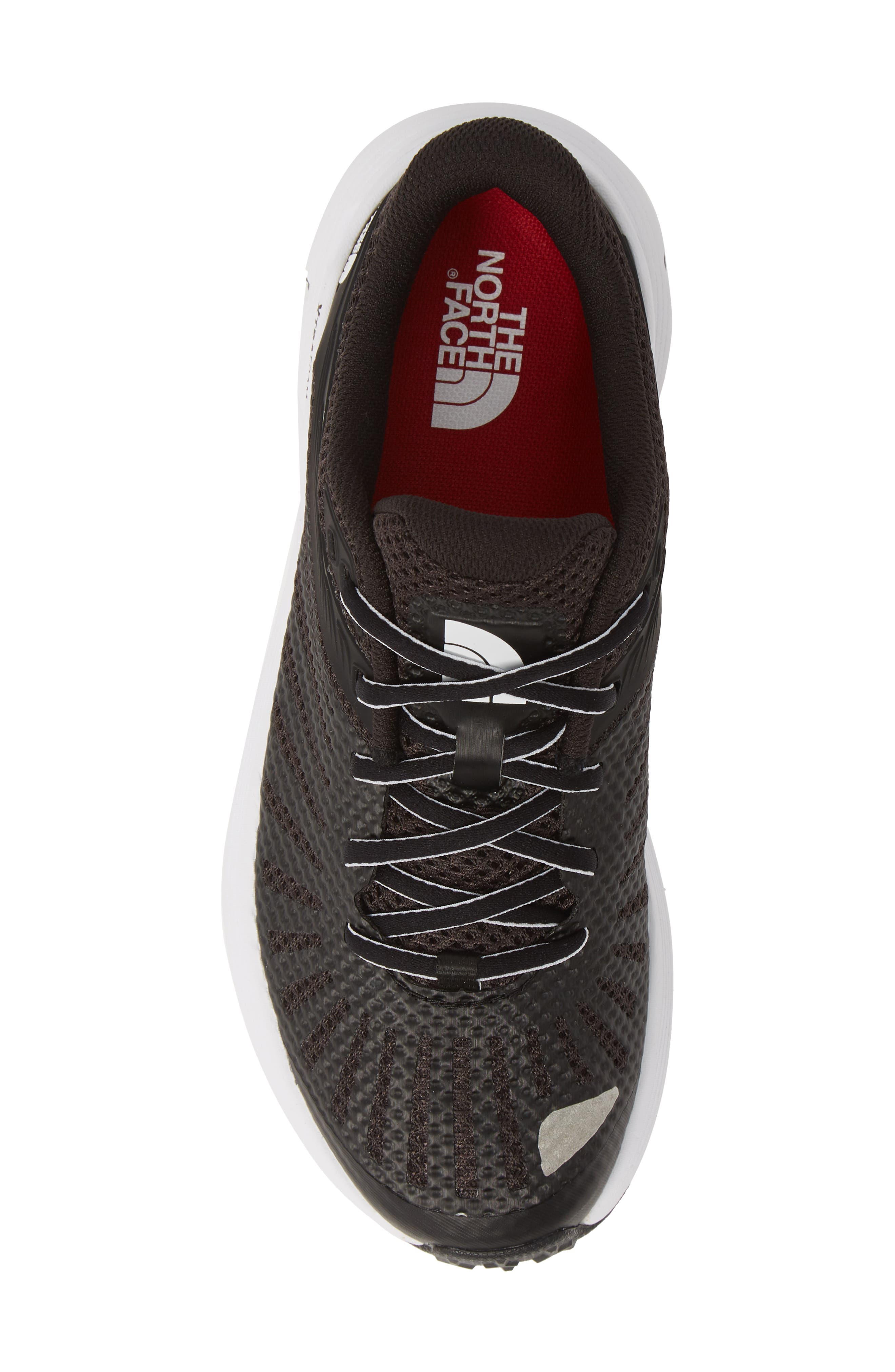 THE NORTH FACE, Ampezzo Running Shoe, Alternate thumbnail 5, color, BLACK/ WHITE