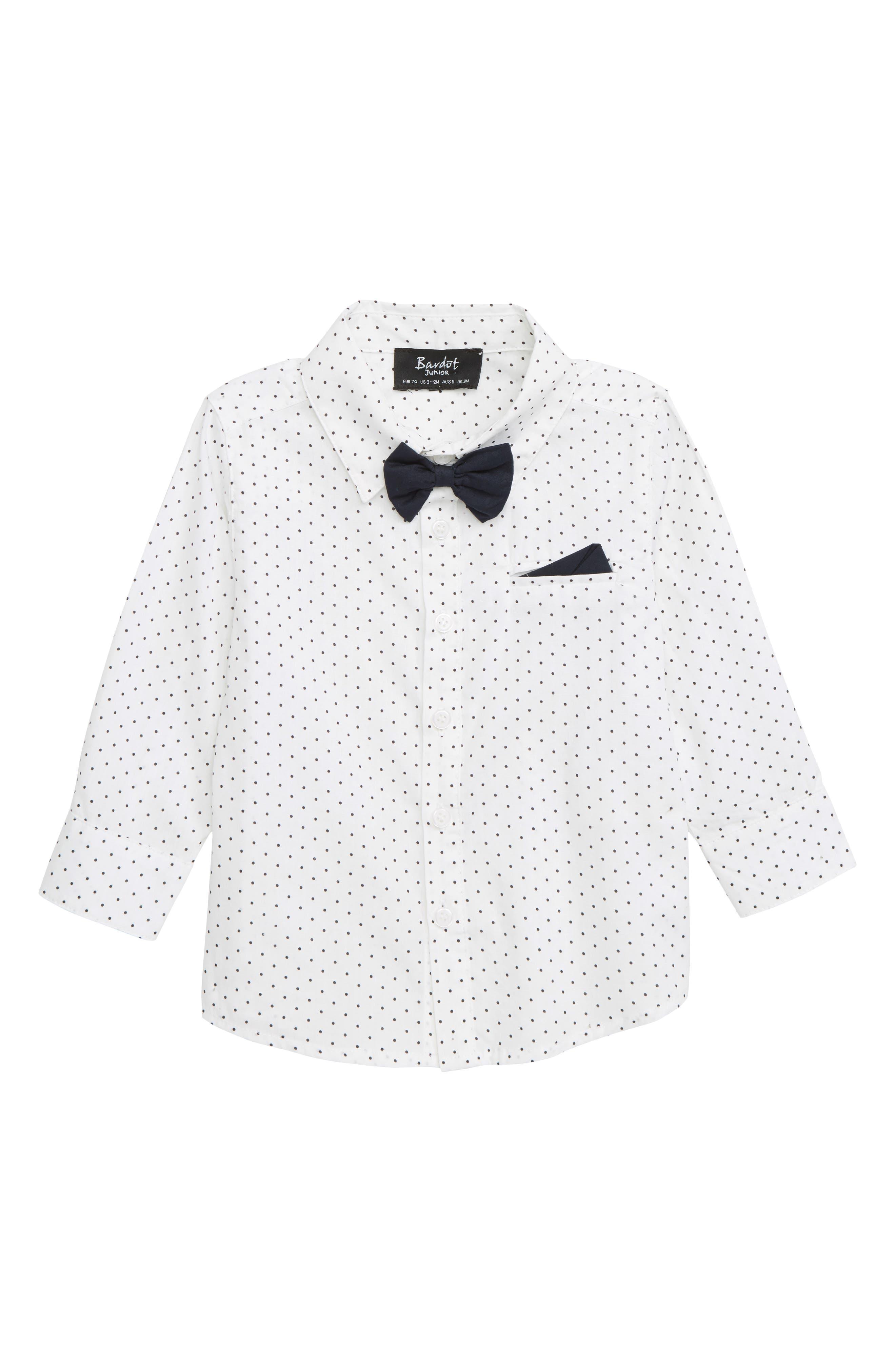 BARDOT JUNIOR Dobby Shirt, Main, color, 100