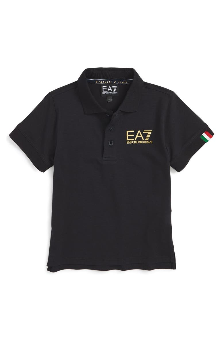 835d0730 Armani Junior 'Logo Italia' Graphic Polo (Little Boys & Big Boys ...