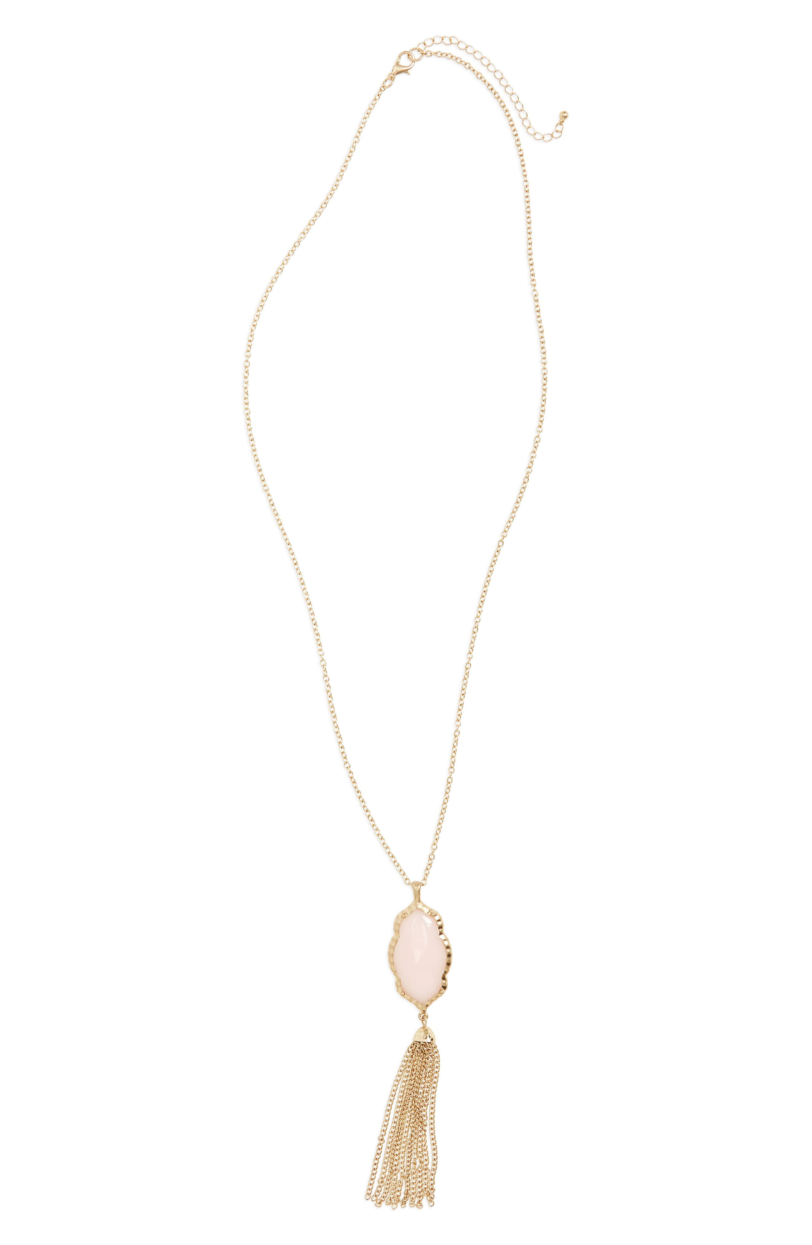 BP. Stone Fringe Pendant Necklace, Main, color, 650