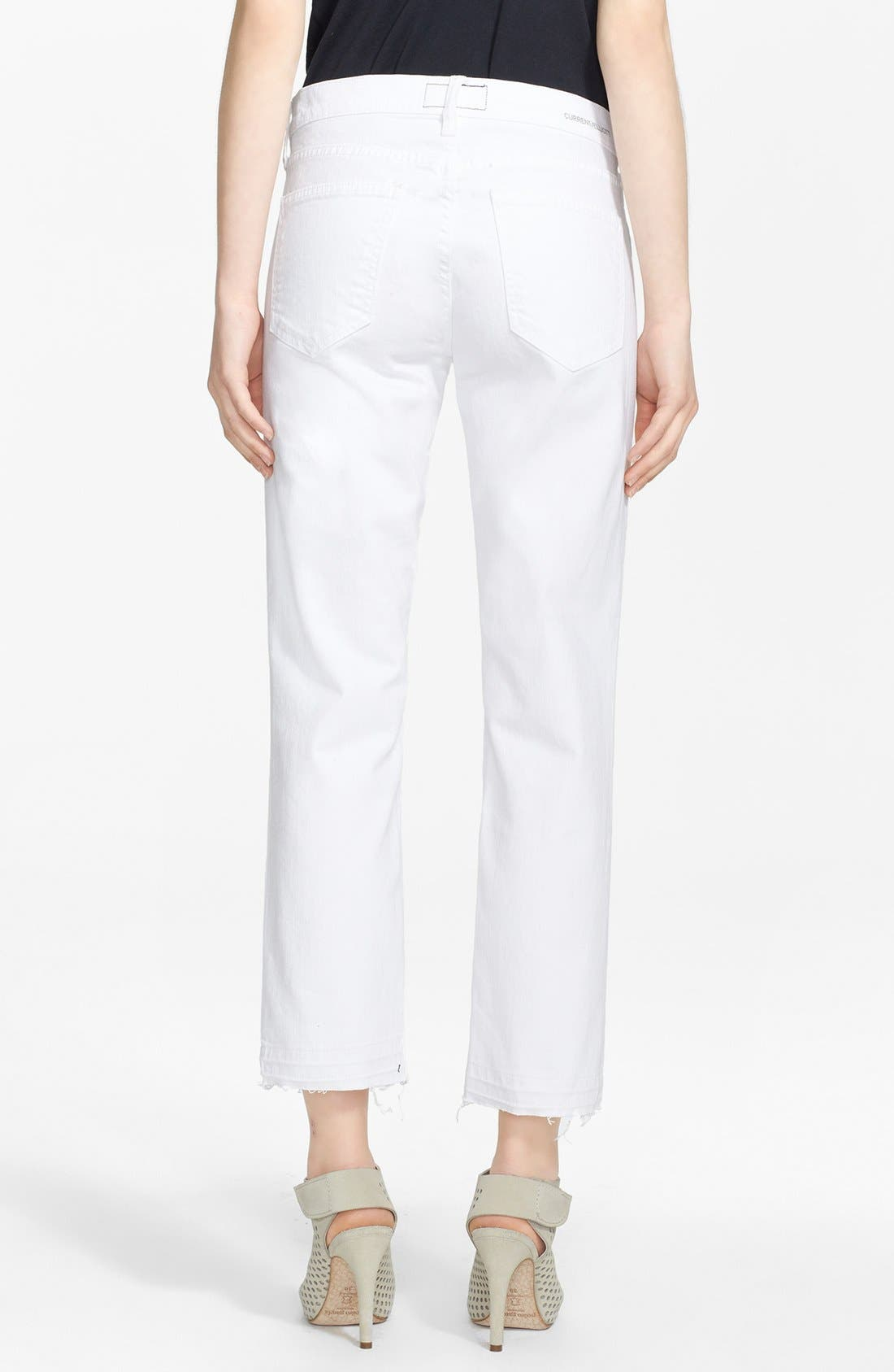 CURRENT/ELLIOTT, 'The Cropped Straight' Straight Leg Crop Jeans, Alternate thumbnail 2, color, 131