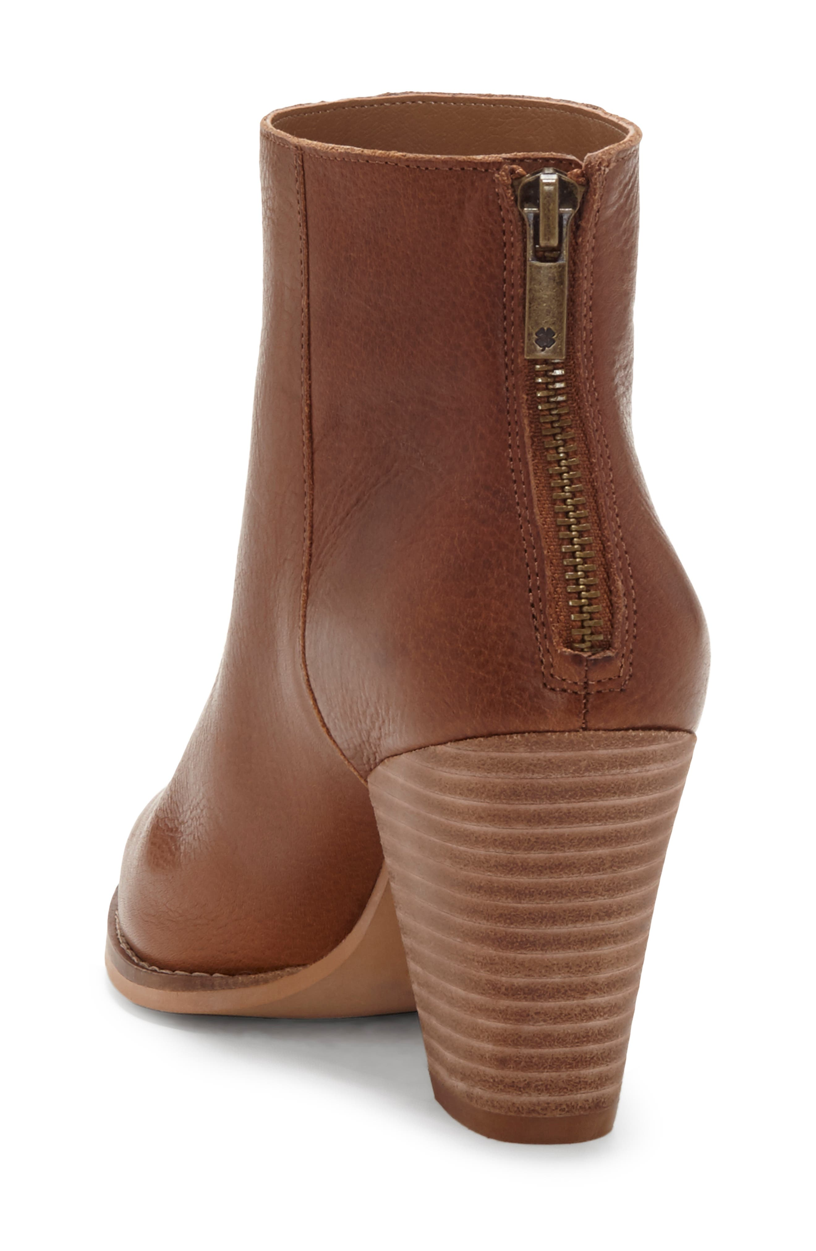 LUCKY BRAND, Adalan Bootie, Alternate thumbnail 2, color, MACAROON LEATHER